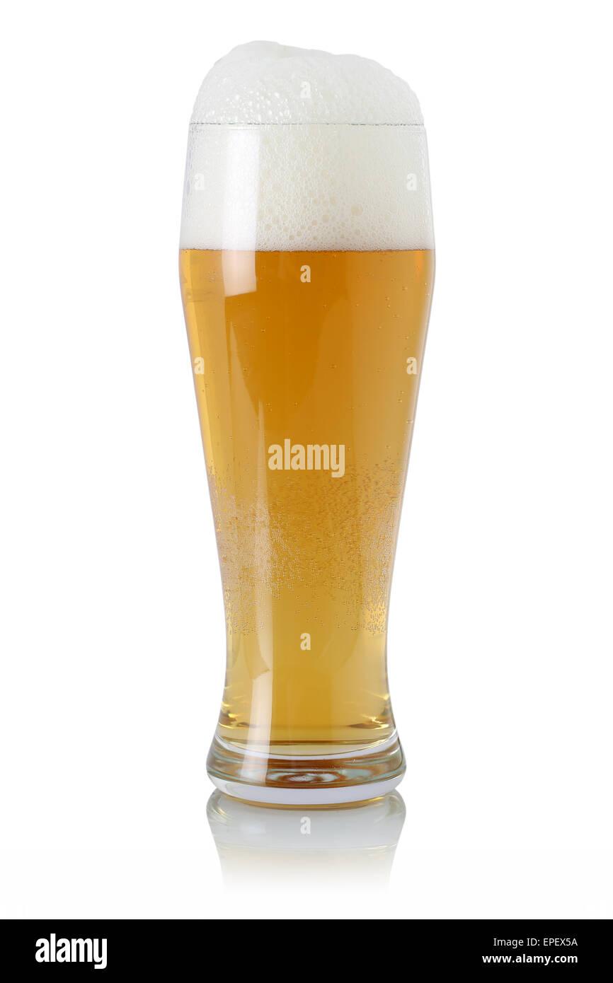 Bier im Glas mit Schaumkrone - Stock Image