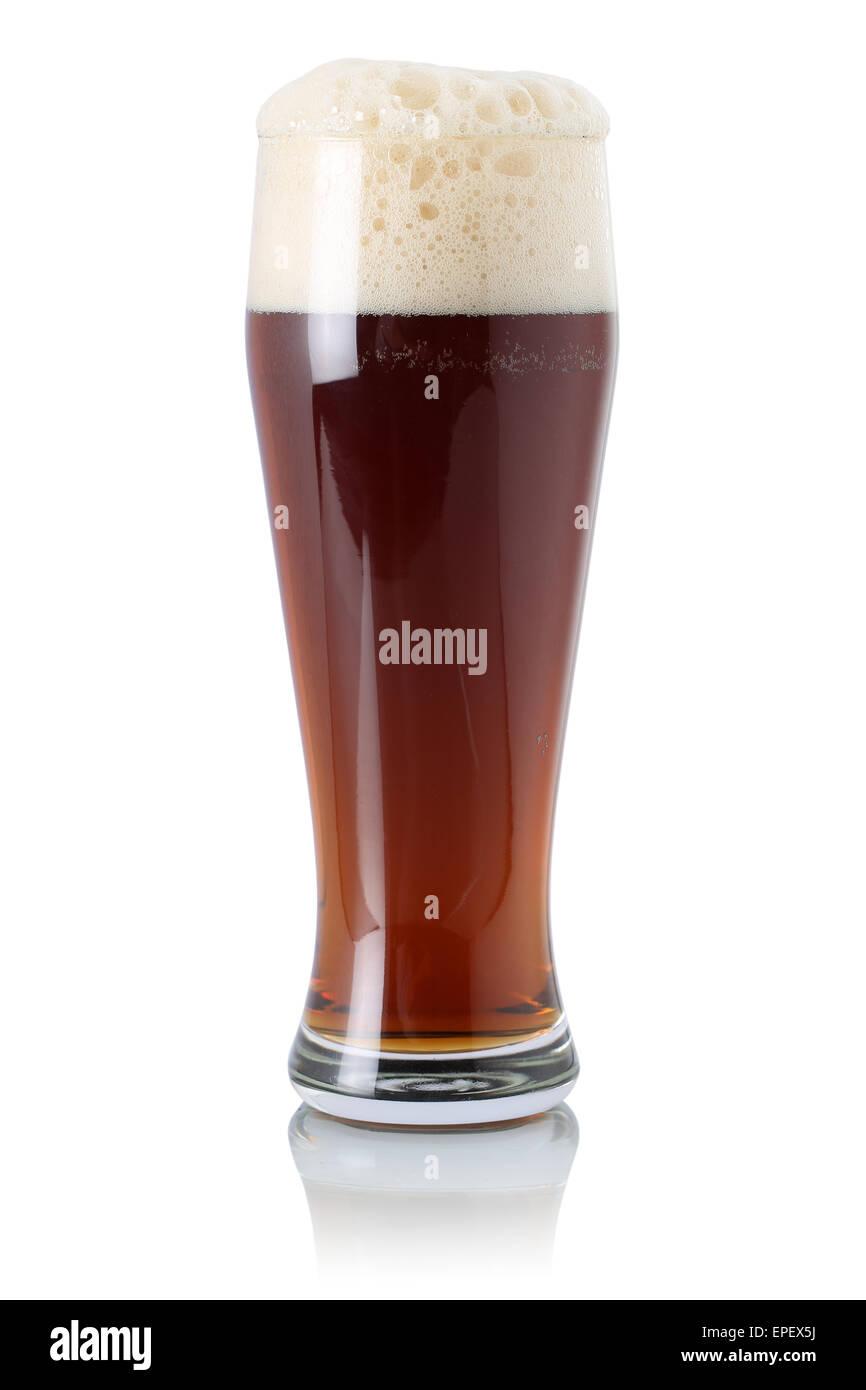 Englisches Bier im Glas mit Schaumkrone - Stock Image