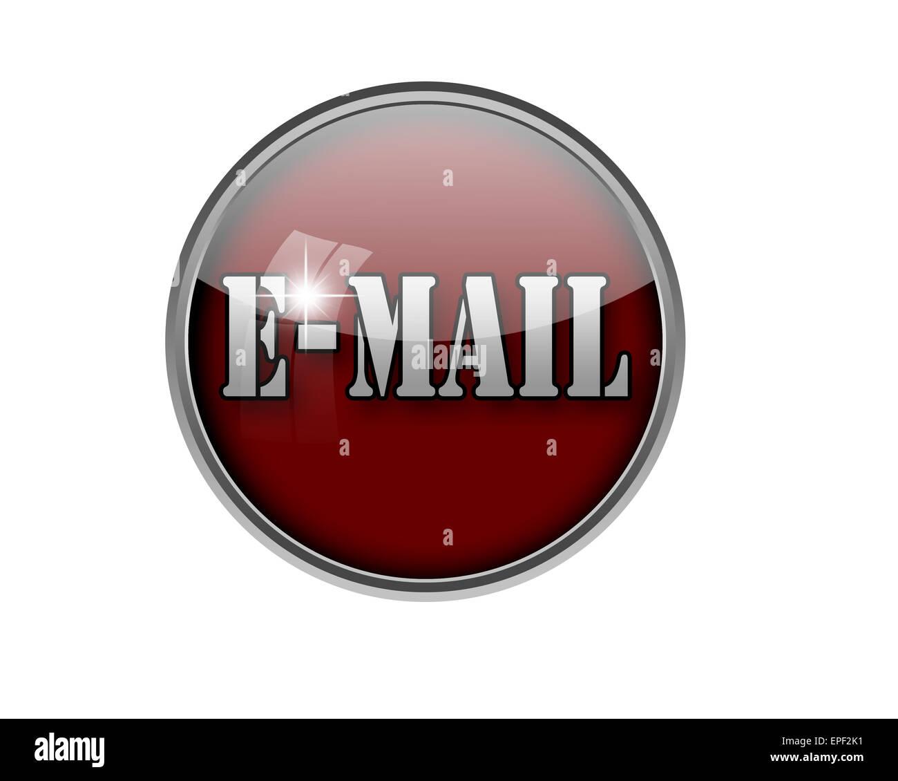 E-Mail button. - Stock Image