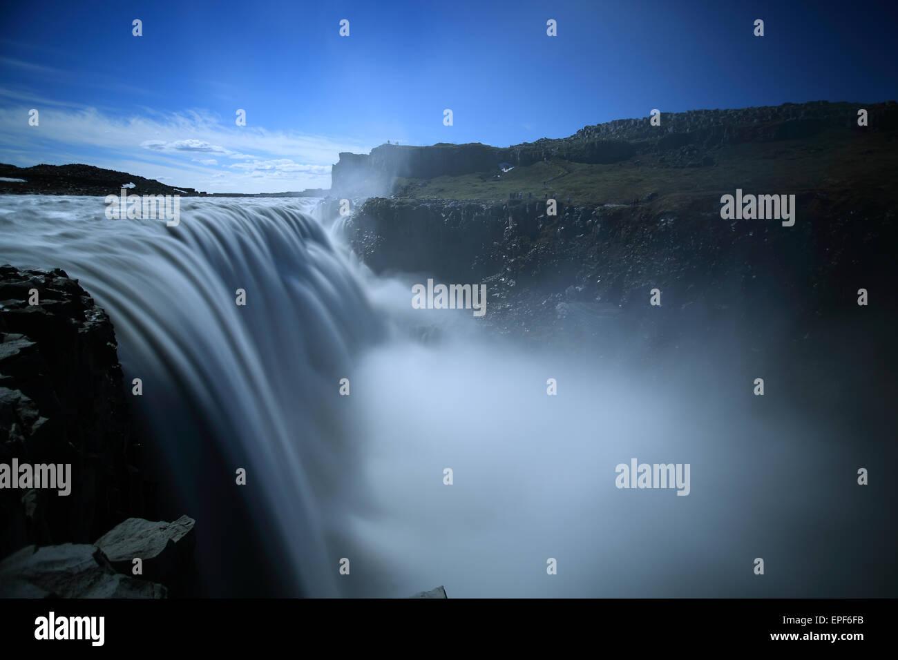 Dettifoss Icland Vatnaj├╢kull National Park - Stock Image