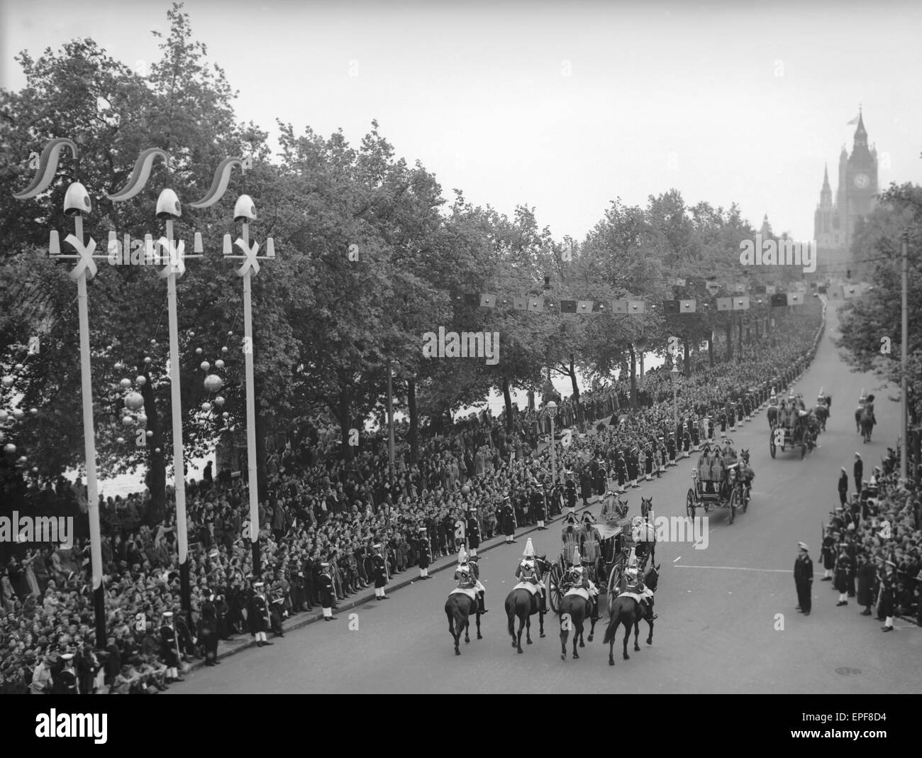 The Carriage Procession of Princes and Princesses of the Blood Royal escorted by the NCO's of the Household - Stock Image