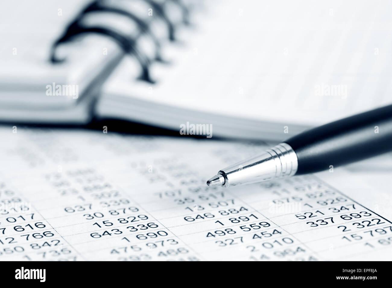 Financial accounting - Stock Image