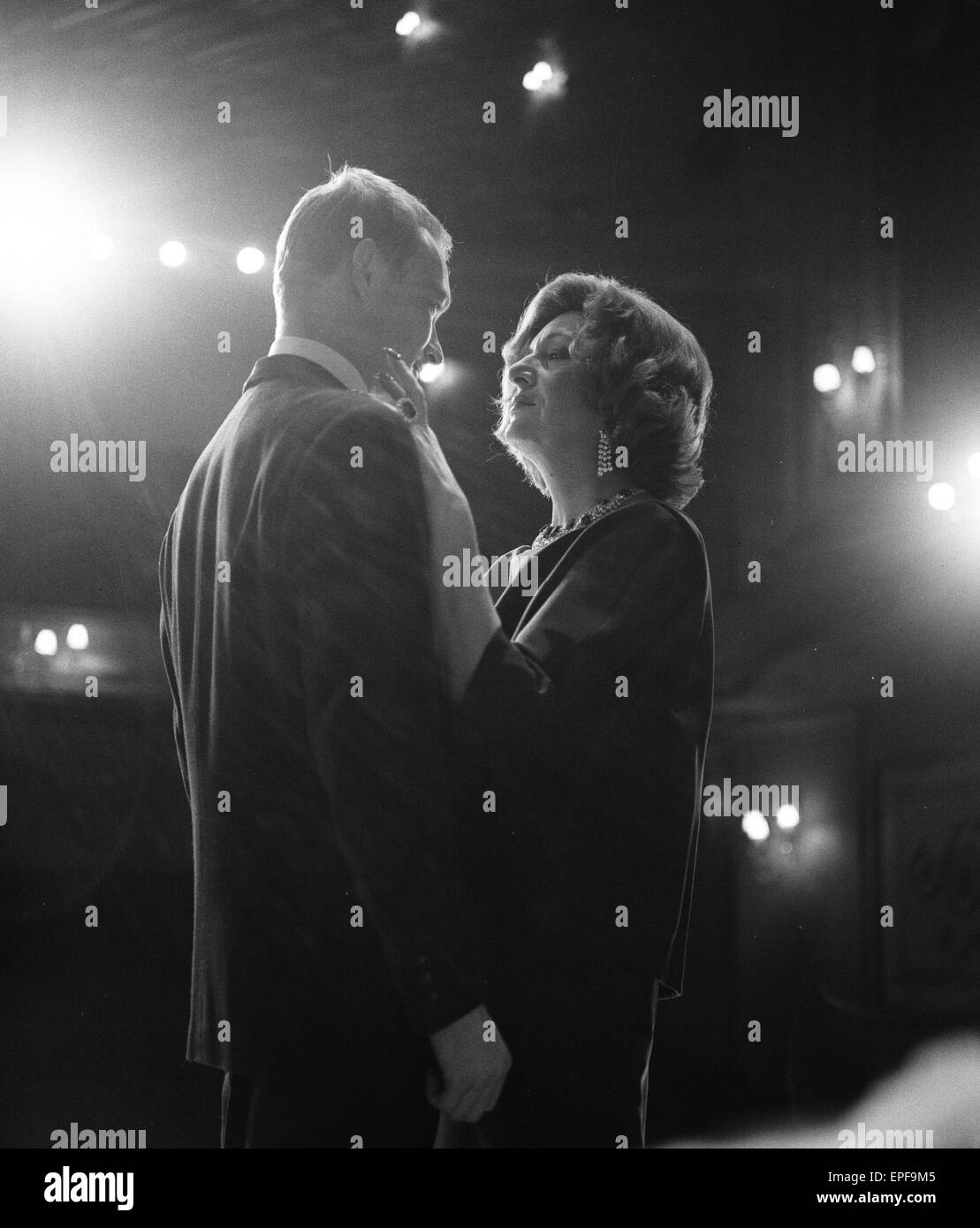 Marie bell and pierre vaneck rehearse a scene from the production of francoise sagans les violons parfois at the piccadily theatre in londons west end