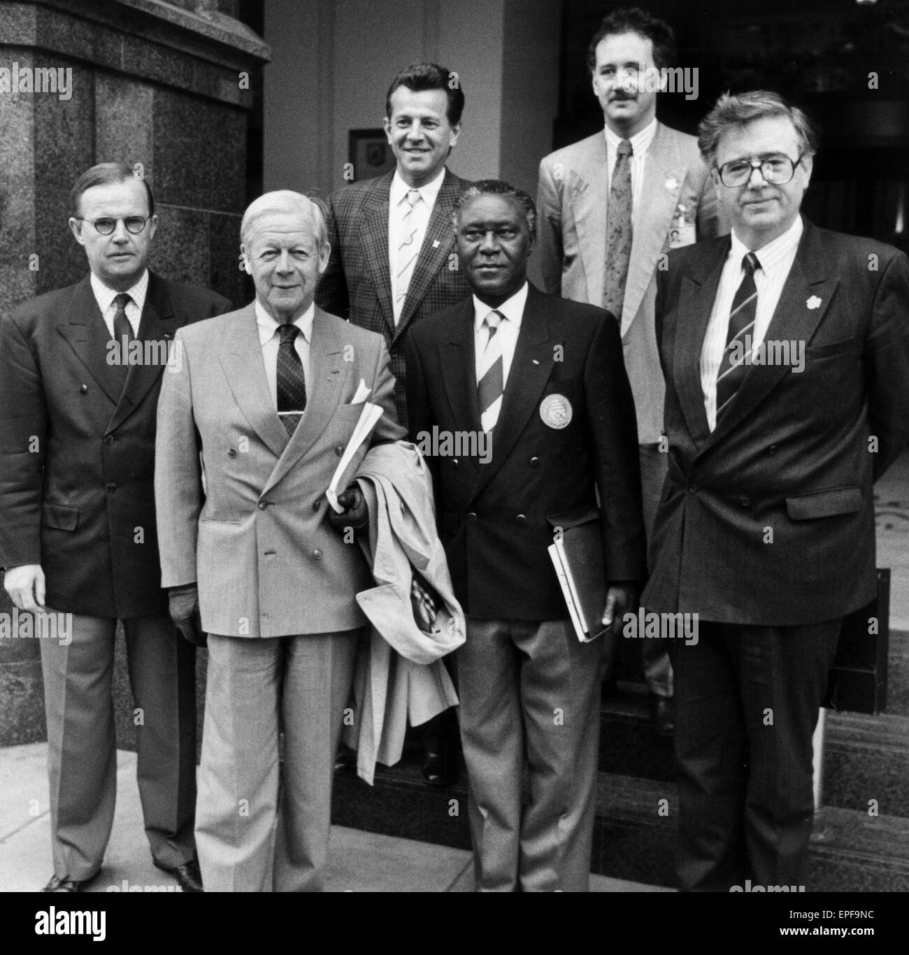 Manchester Olympic Bid for the 1996 Games, March 1990.  The Olympic committee in Manchester. - Stock Image