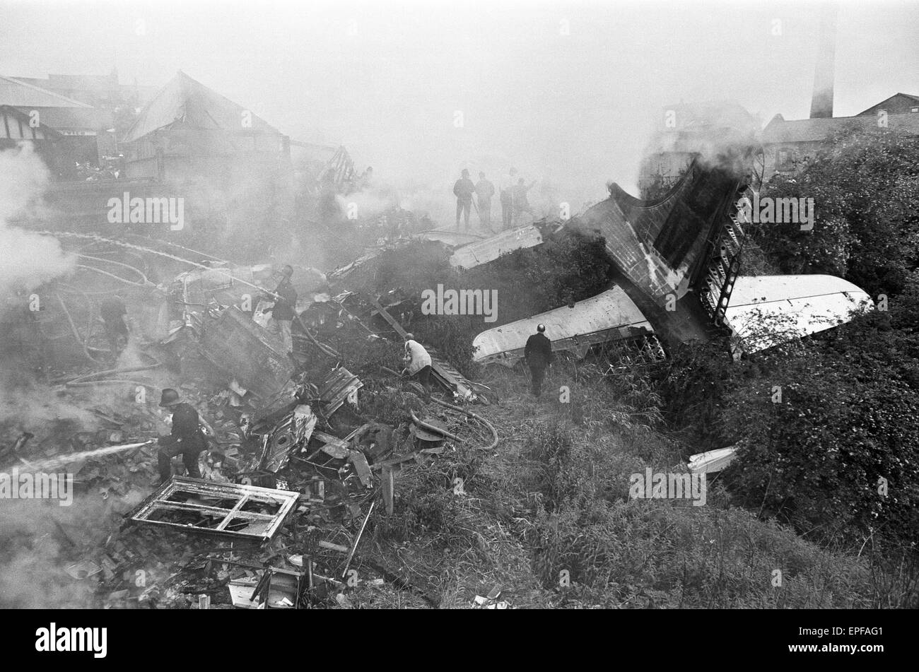 Stockport Air Disaster was the crash of a Canadair C-4 Argonaut aircraft owned by British Midland Airways, registration - Stock Image