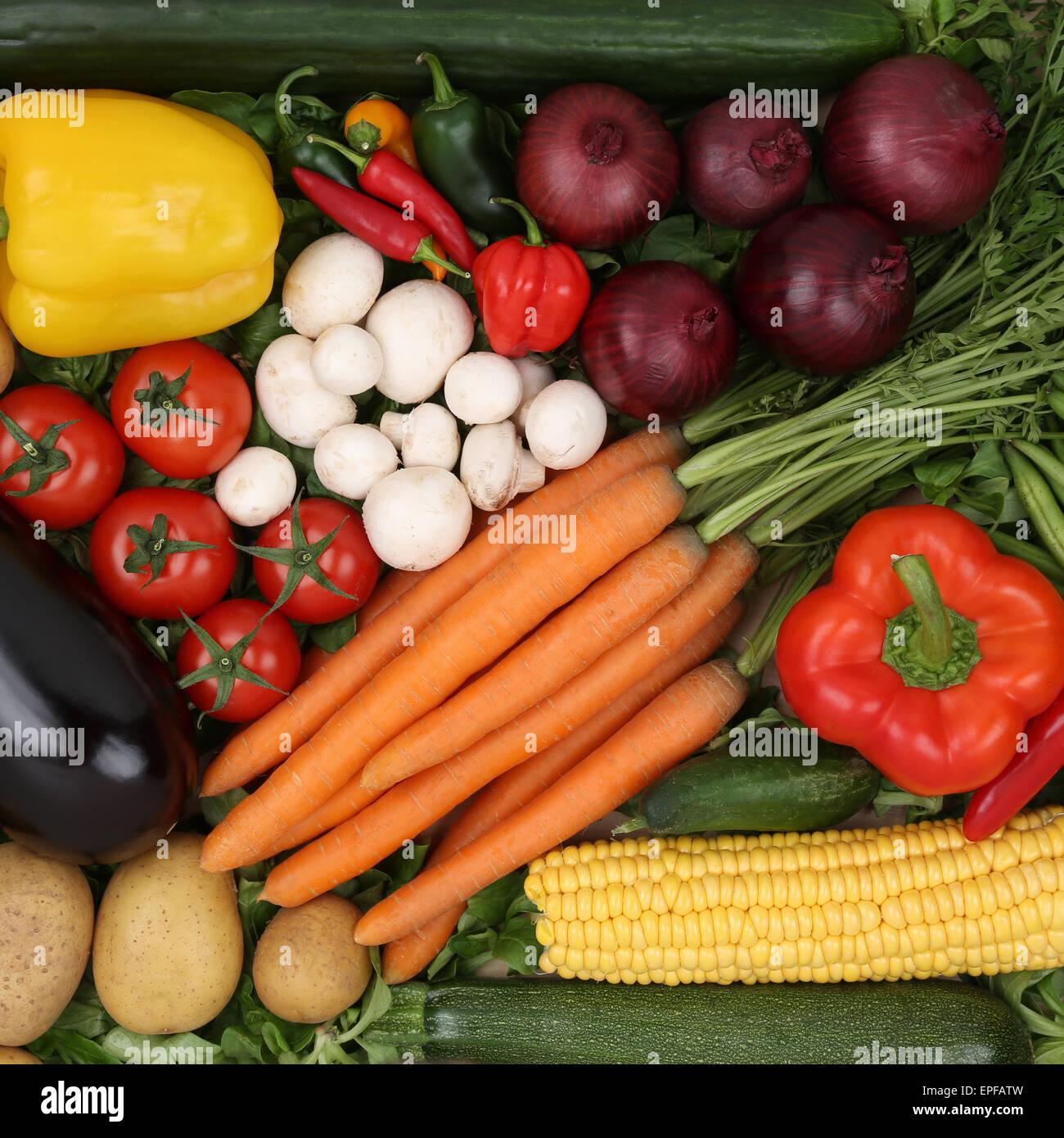 Gem├╝se Essen Nahrungsmittel Hintergrund - Stock Image