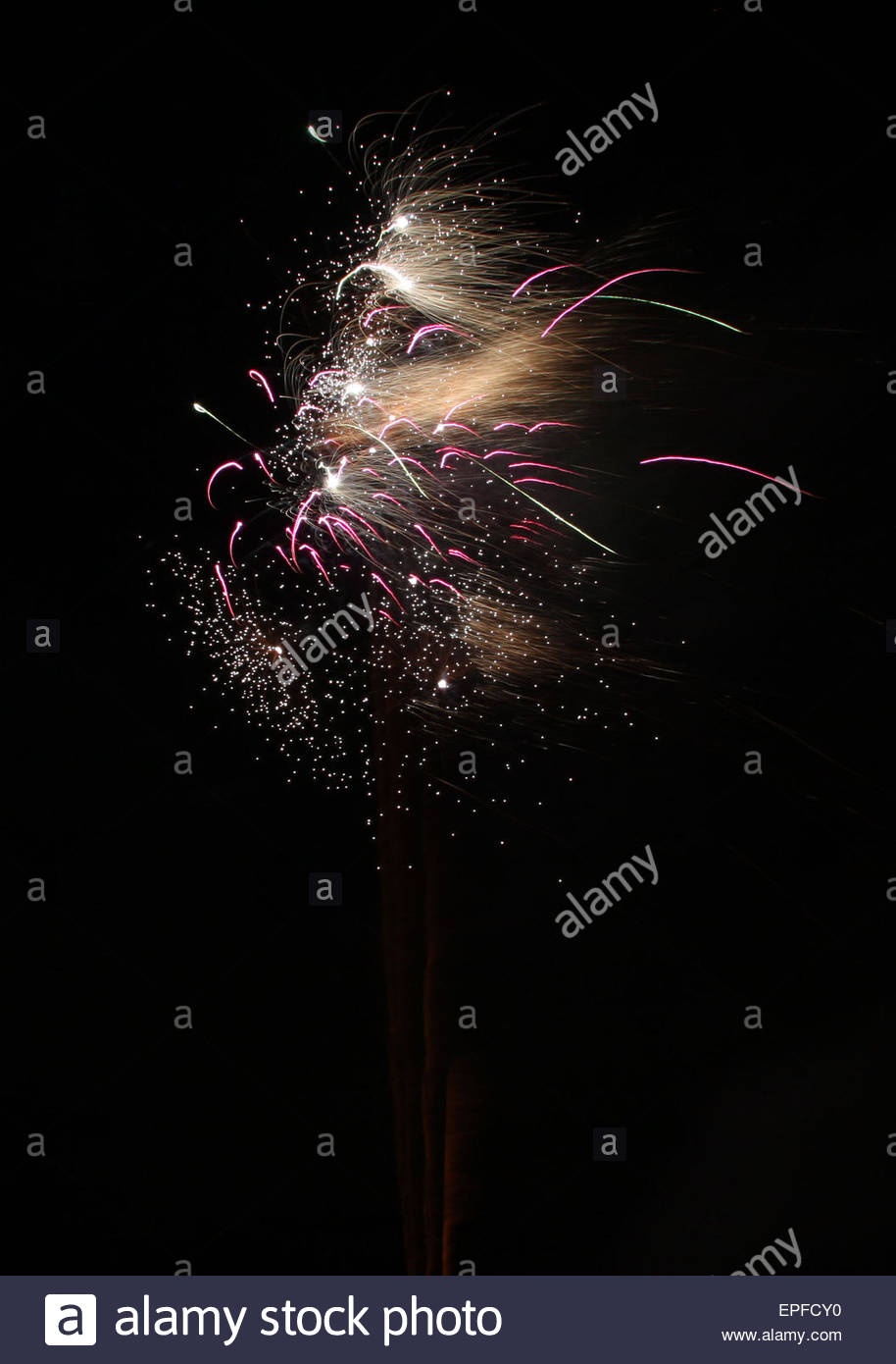 Firework Exploding - Stock Image