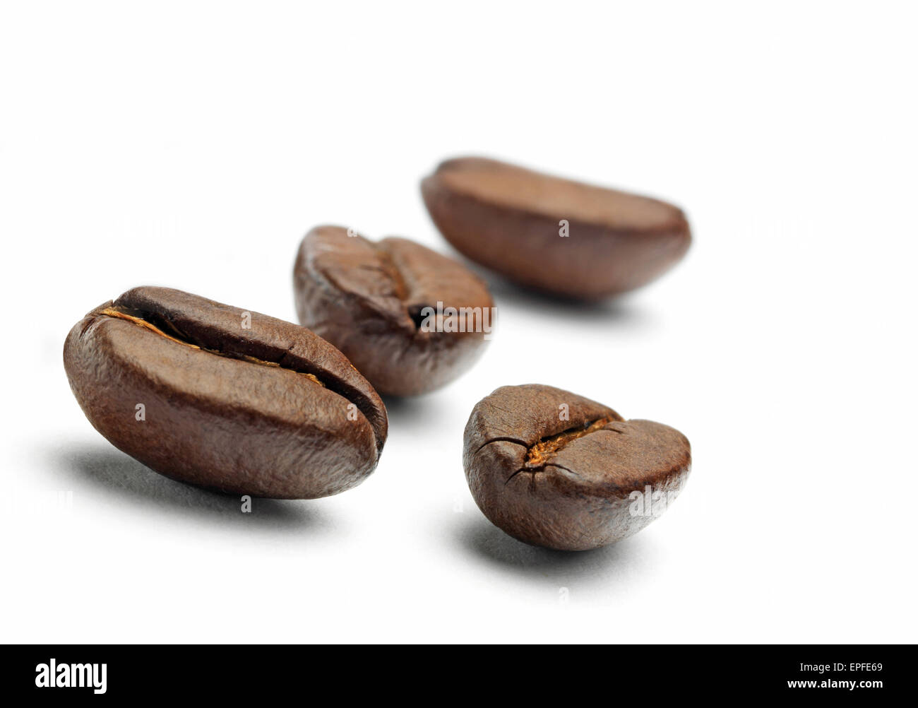 Isolated Coffee Beans - Stock Image