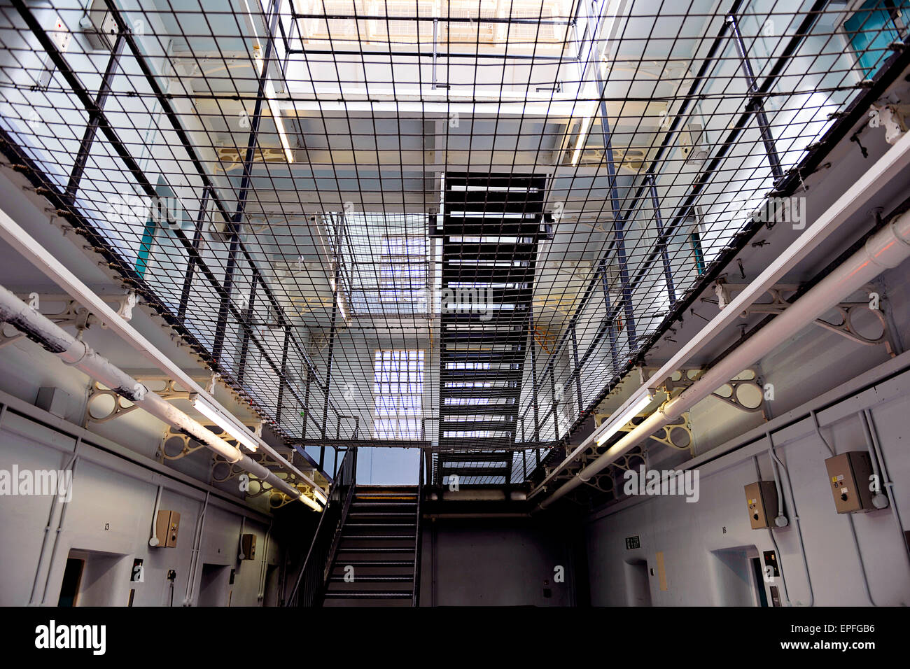 Shepton Mallet Prison, Somerset. When it closed in 2013, it was the United Kingdom's oldest operating prison. - Stock Image