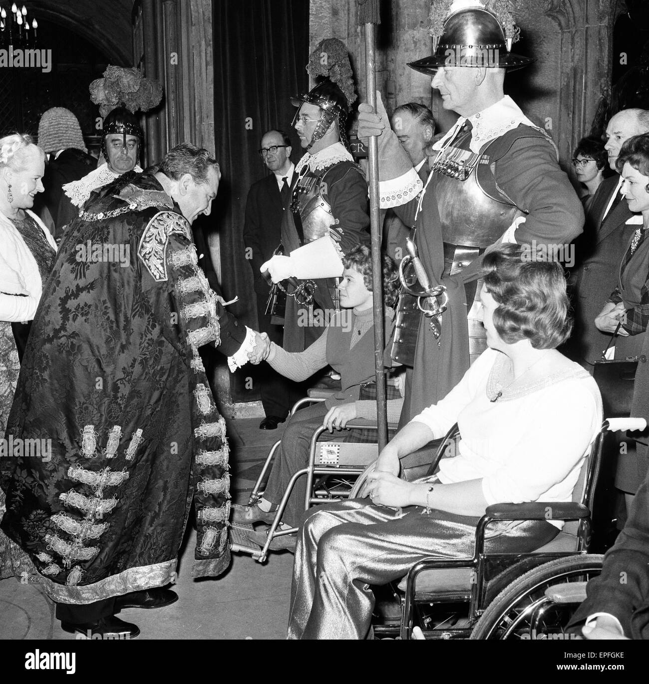 British Para Olympians, guest of honour of the Lord Mayor of London, at Mansion House, City of London, after their - Stock Image