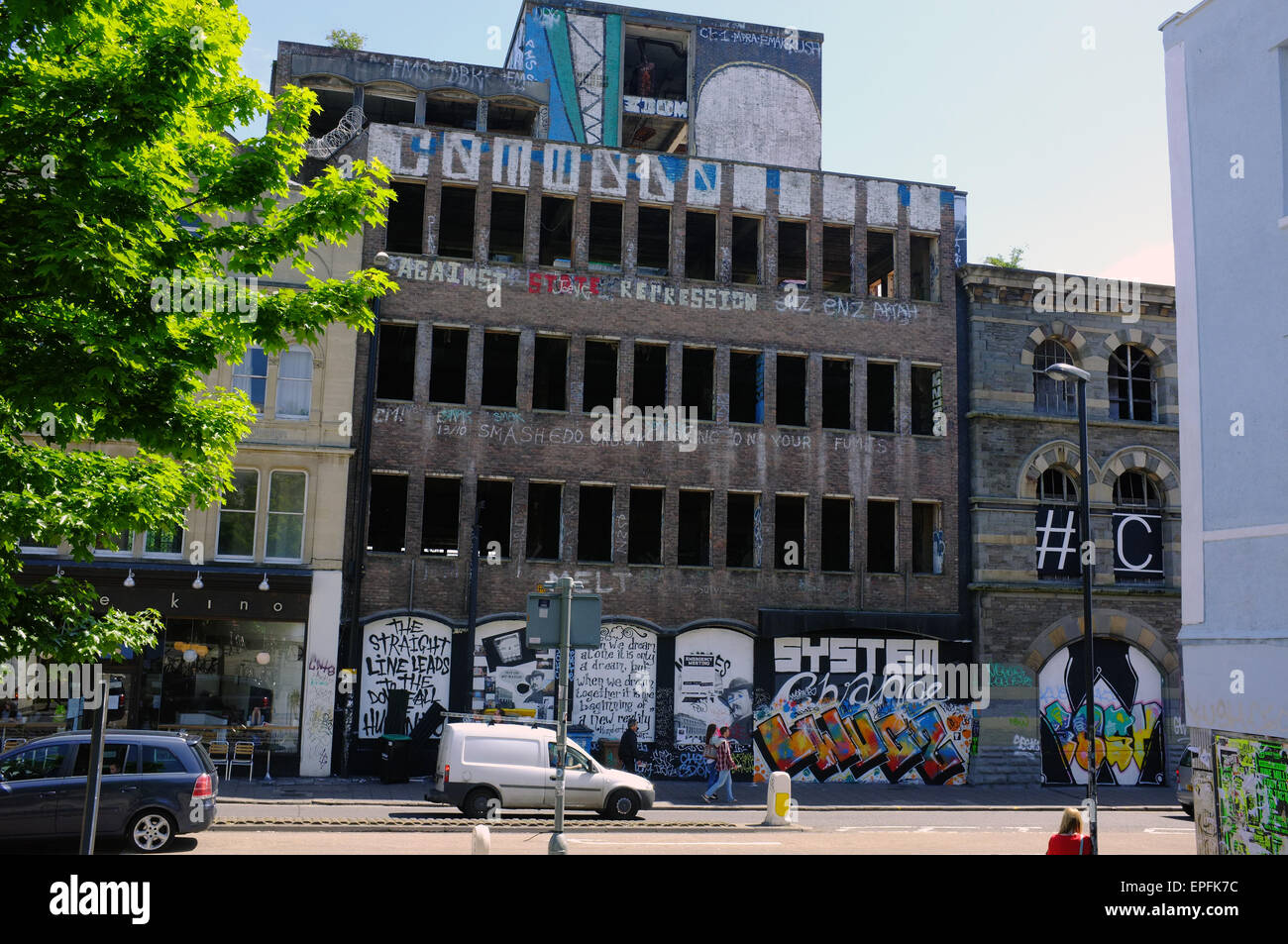 Westmoreland House in the Stokes Croft area of Bristol in the UK. - Stock Image