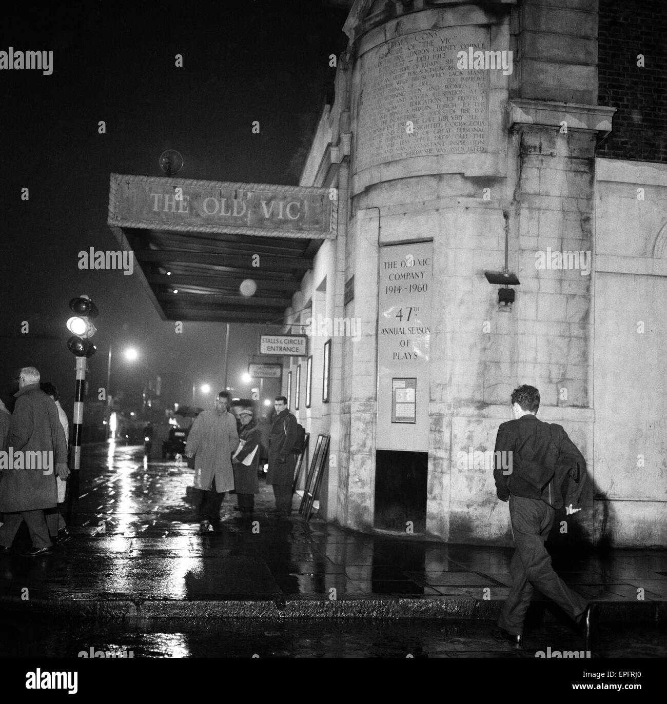 The Old Vic theatre in the West End, central London. 9th January 1961. - Stock Image