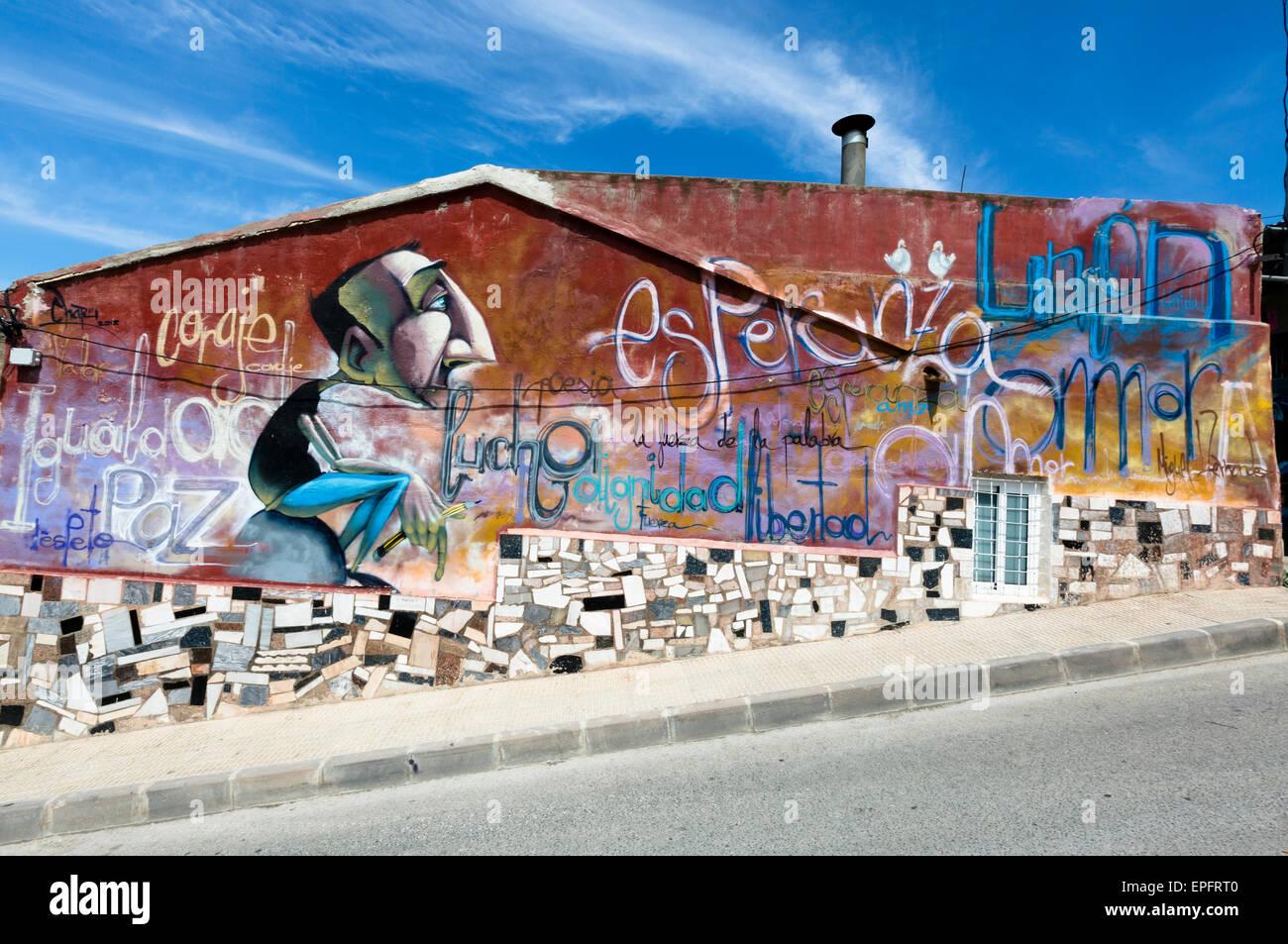 Murals, San Isidro, Orihuela, Spain - Stock Image