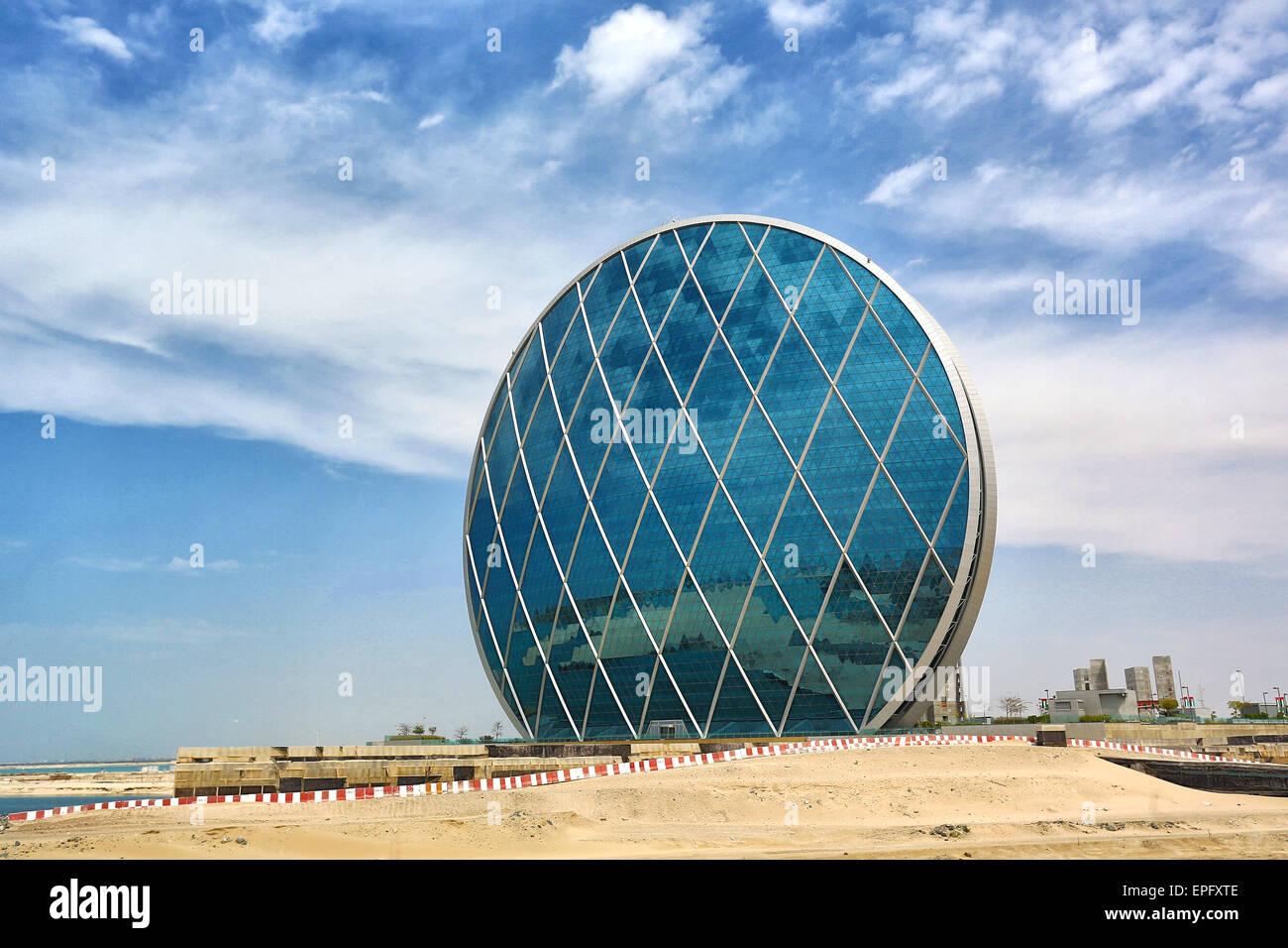 HQ Building in Abu Dhabi - Stock Image