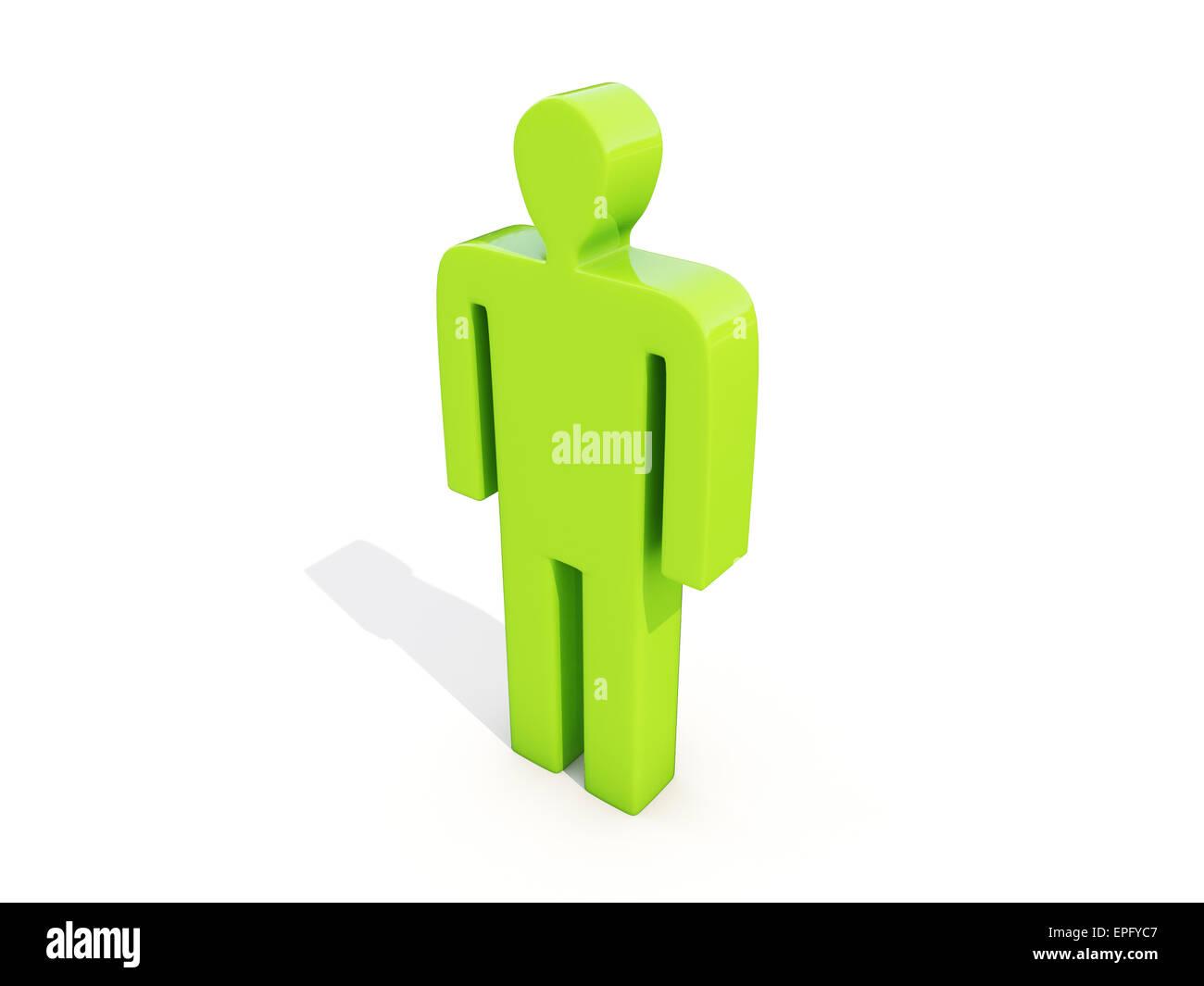 Man on white - Stock Image