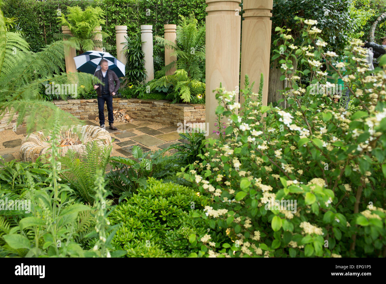 2015 RHS Chelsea Flower Show Press Day, Royal Hospital Chelsea, London, UK. 18th May, 2015. The Time In Between - Stock Image