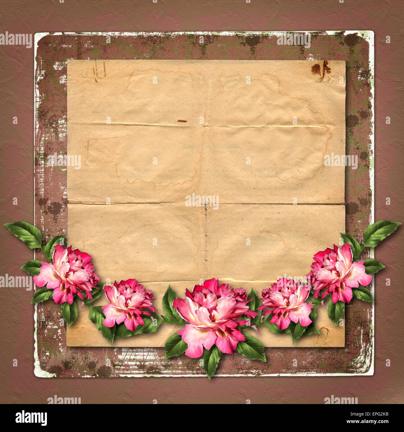 Beautiful painted rose with frames for congratulations or invitation beautiful painted rose with frames for congratulations or invitation on abstract background izmirmasajfo