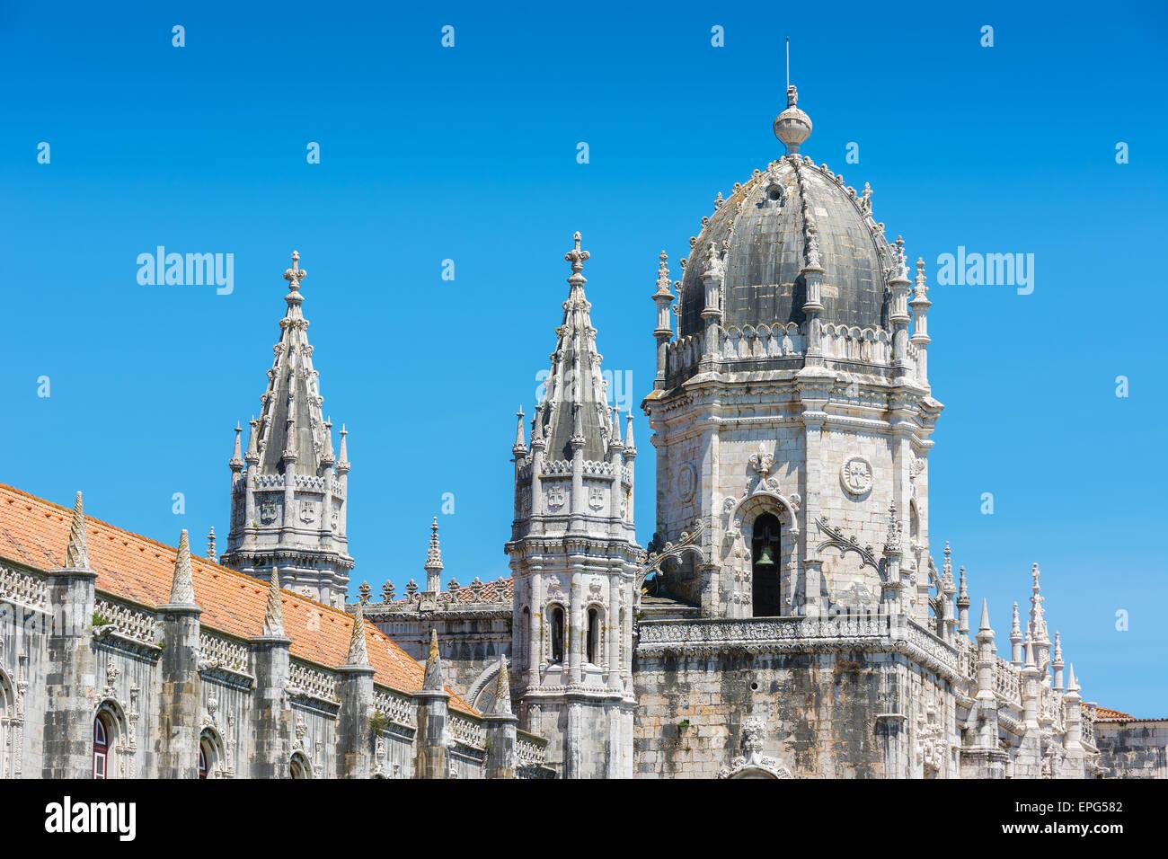 View of the Jeronimos Monastery Lisbon Portugal - Stock Image