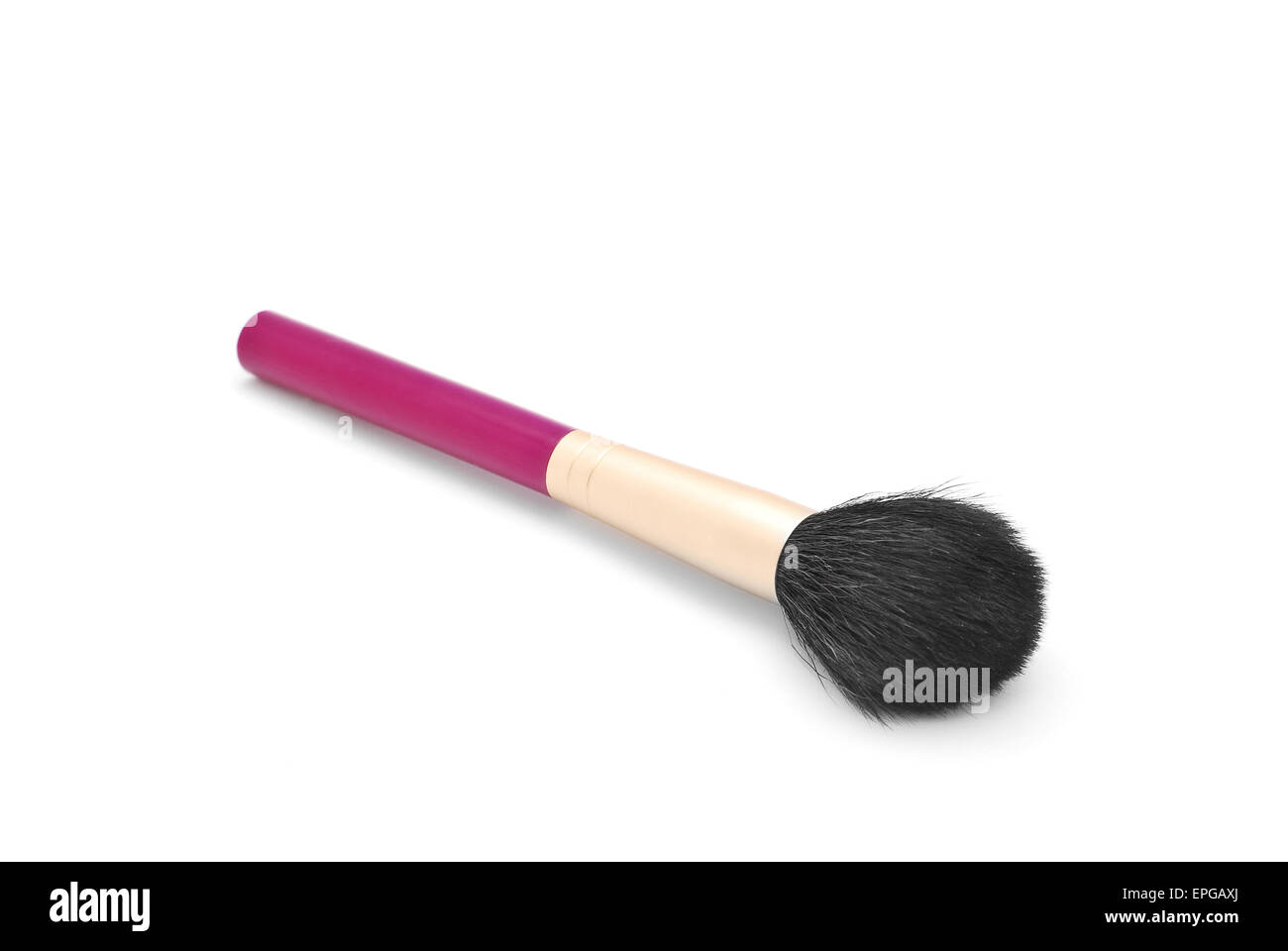 cosmetic brush on white background - Stock Image