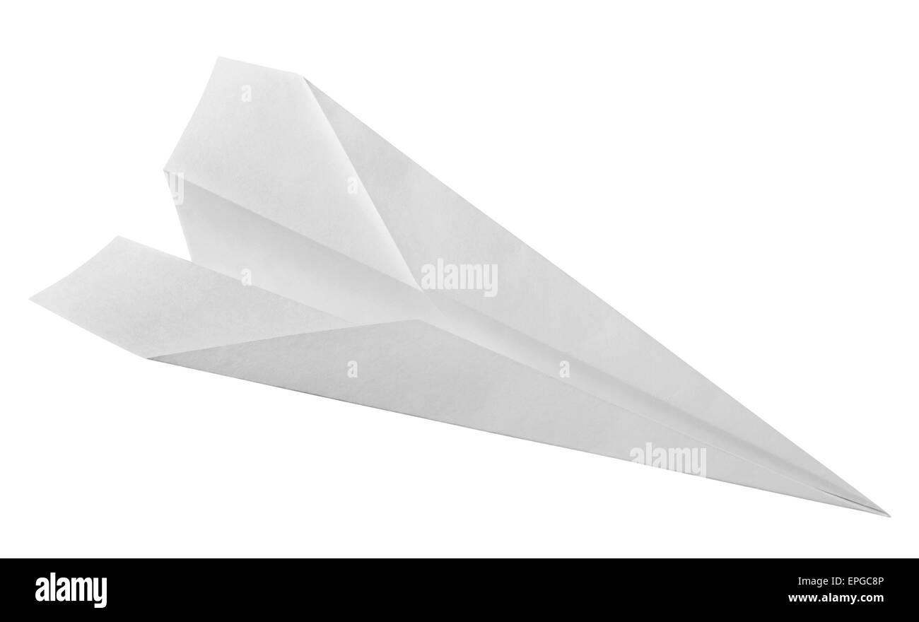 white paper airplane - Stock Image
