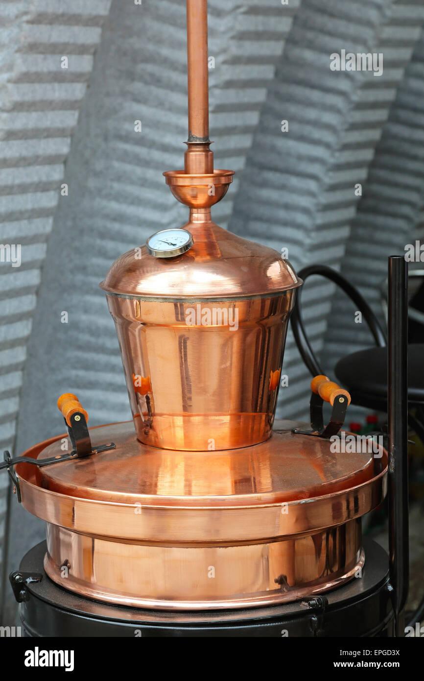 Copper still - Stock Image