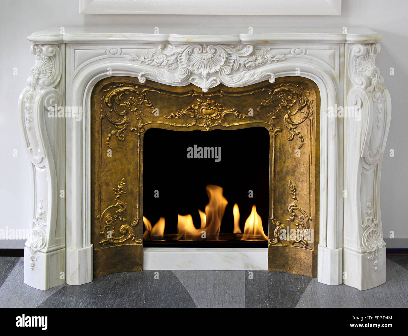 Fireplace - Stock Image