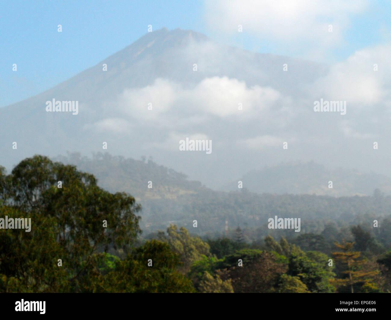 FEBRUARY 2012 - TANZANIA: Mount Meru, Tanzania, Africa. - Stock Image