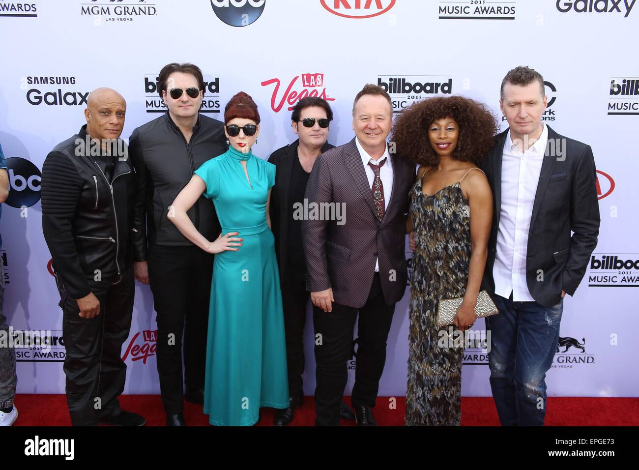 Las Vegas, NV, USA. 17th May, 2015. Simple Minds at arrivals for 2015 Billboard Music Awards - Part 3, MGM Grand - Stock Image