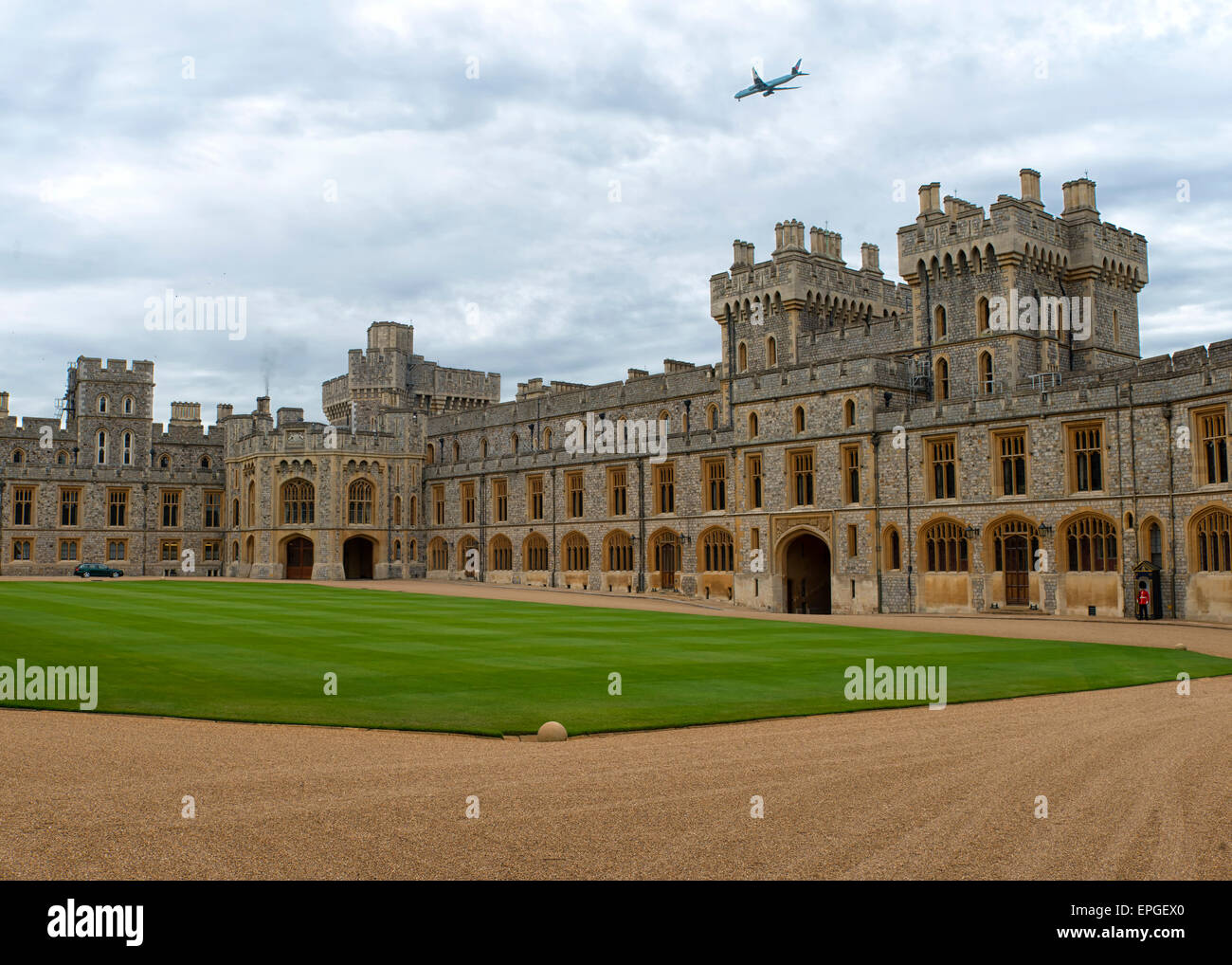 State Apartments at Windsor Castle, UK - Stock Image