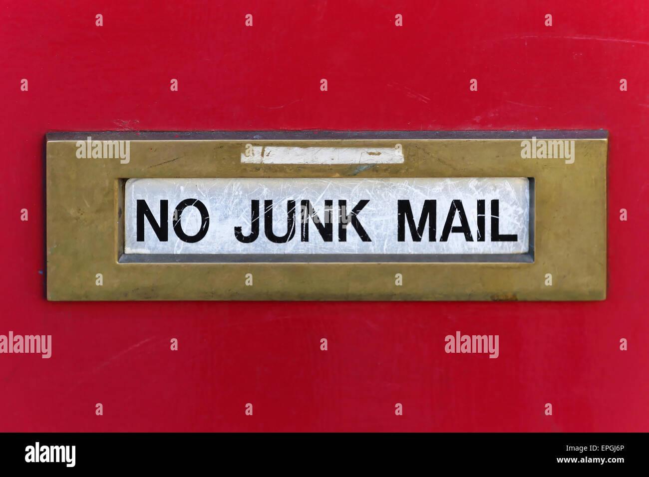 No junk mail - Stock Image