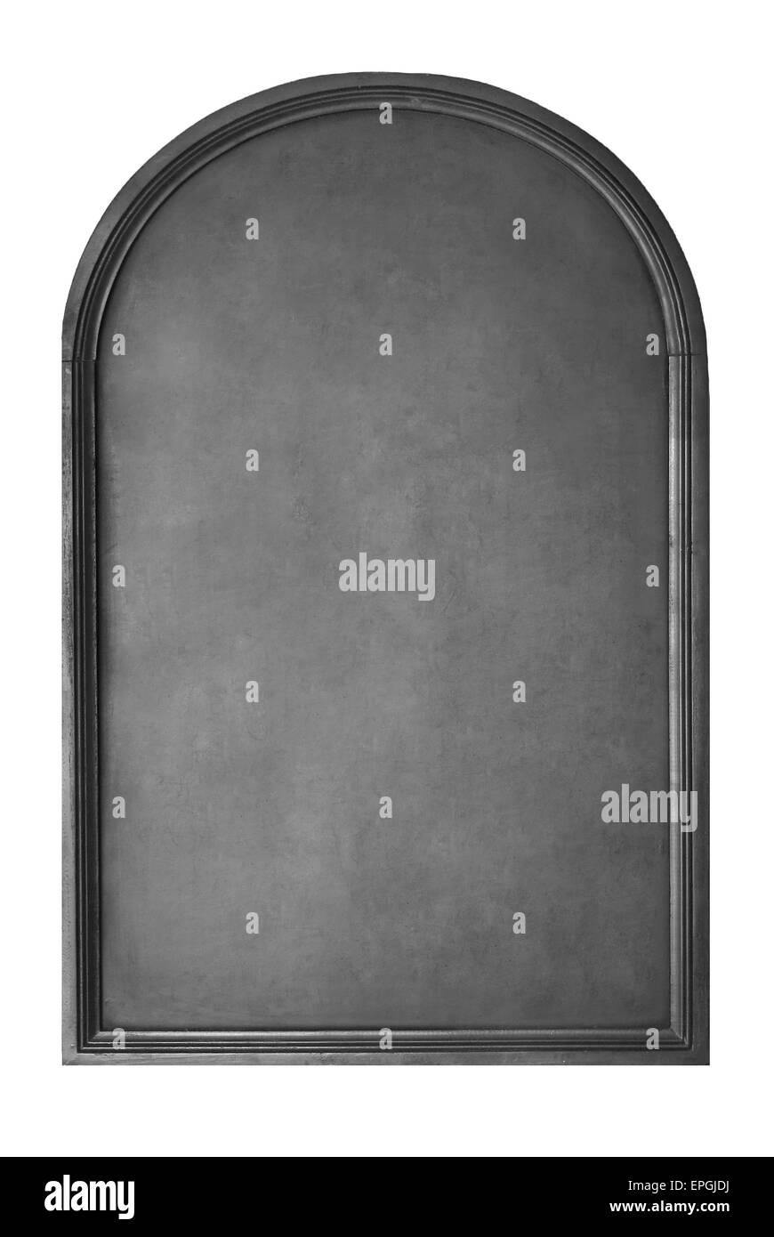 blank menu chalkboard isolated on white - Stock Image