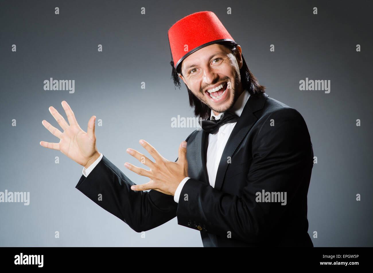 Turkish Man In Fez Hat Stock Photos & Turkish Man In Fez Hat