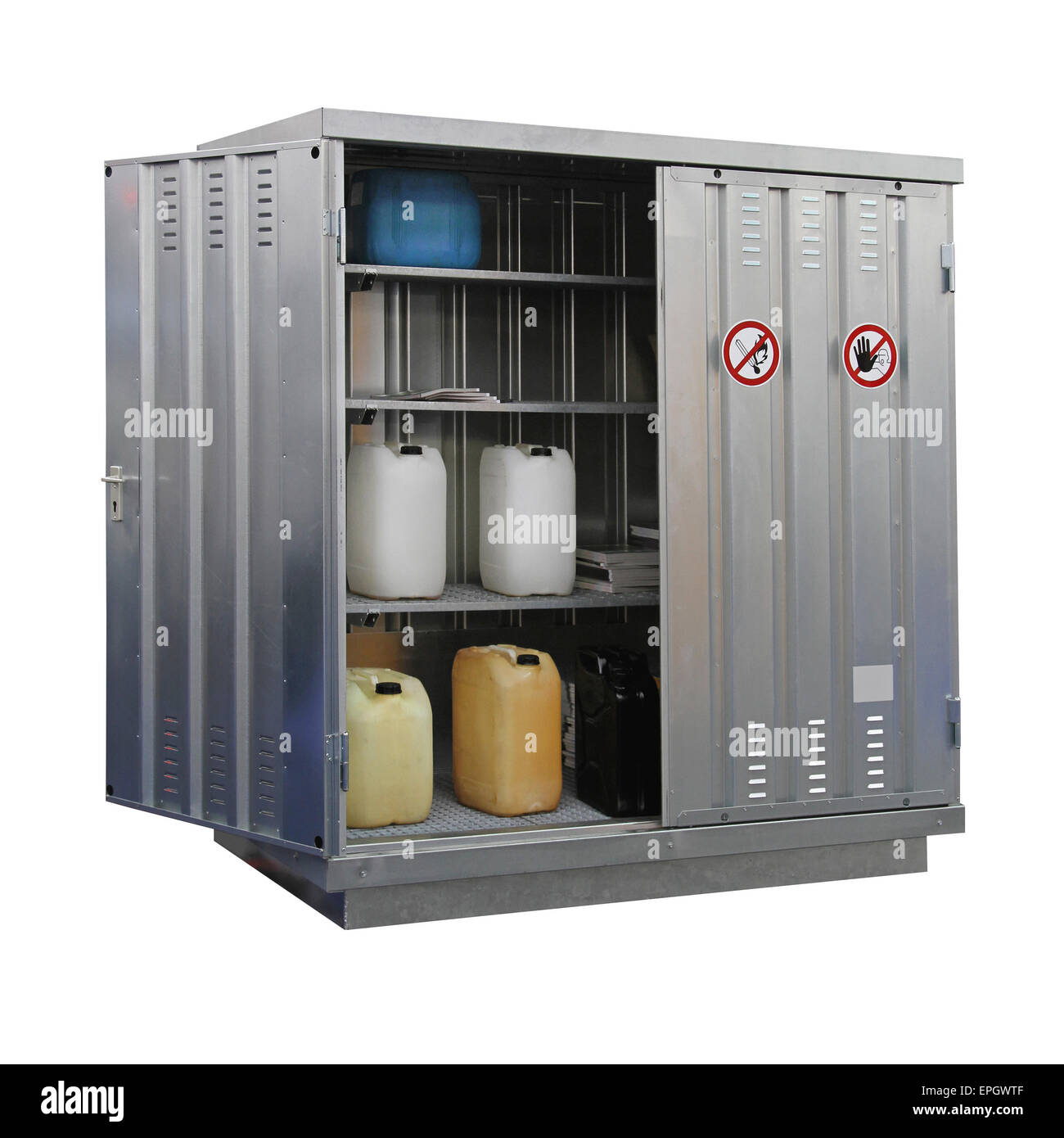 Hazardous materials storage - Stock Image