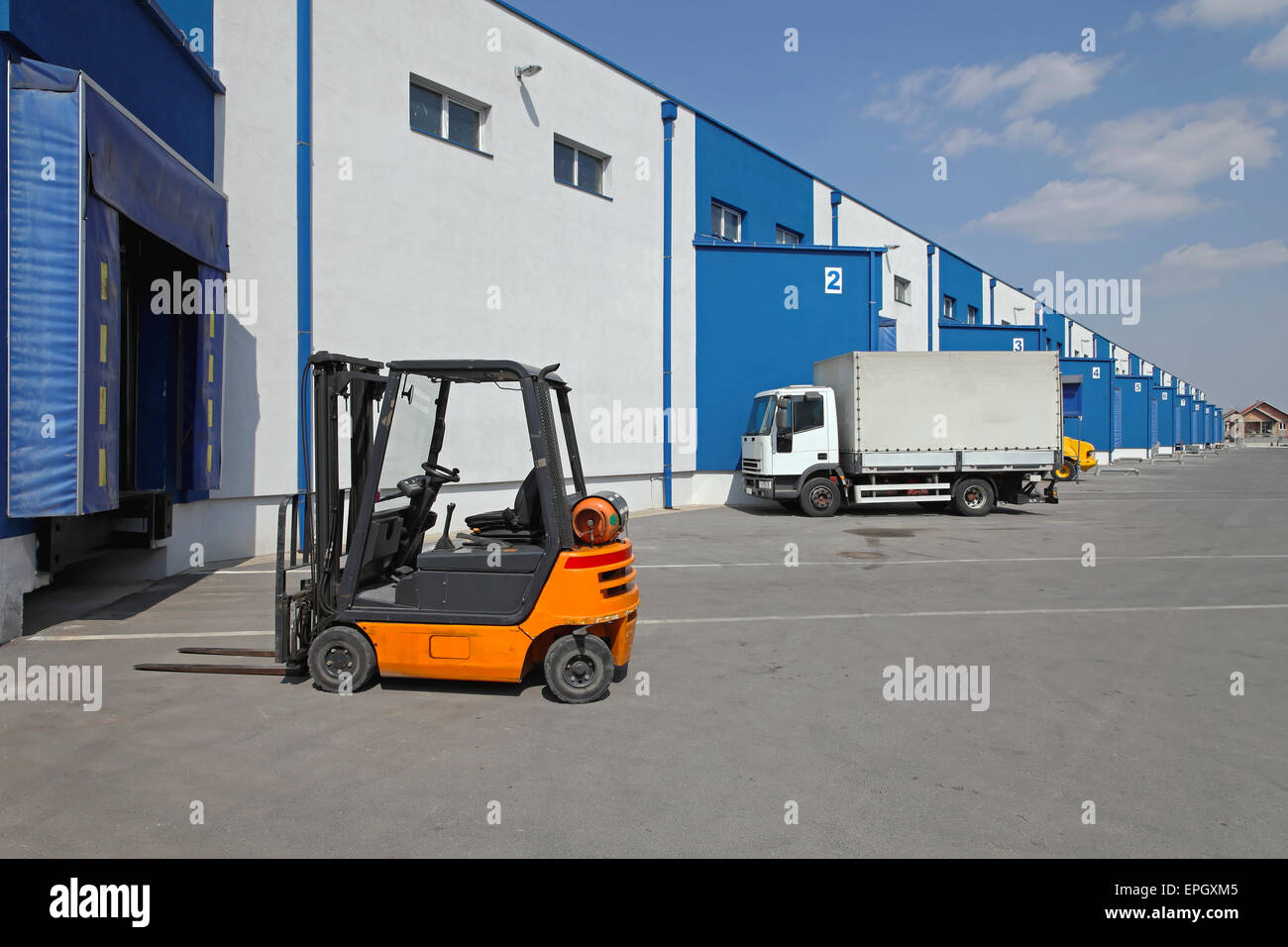 Logistics transport - Stock Image