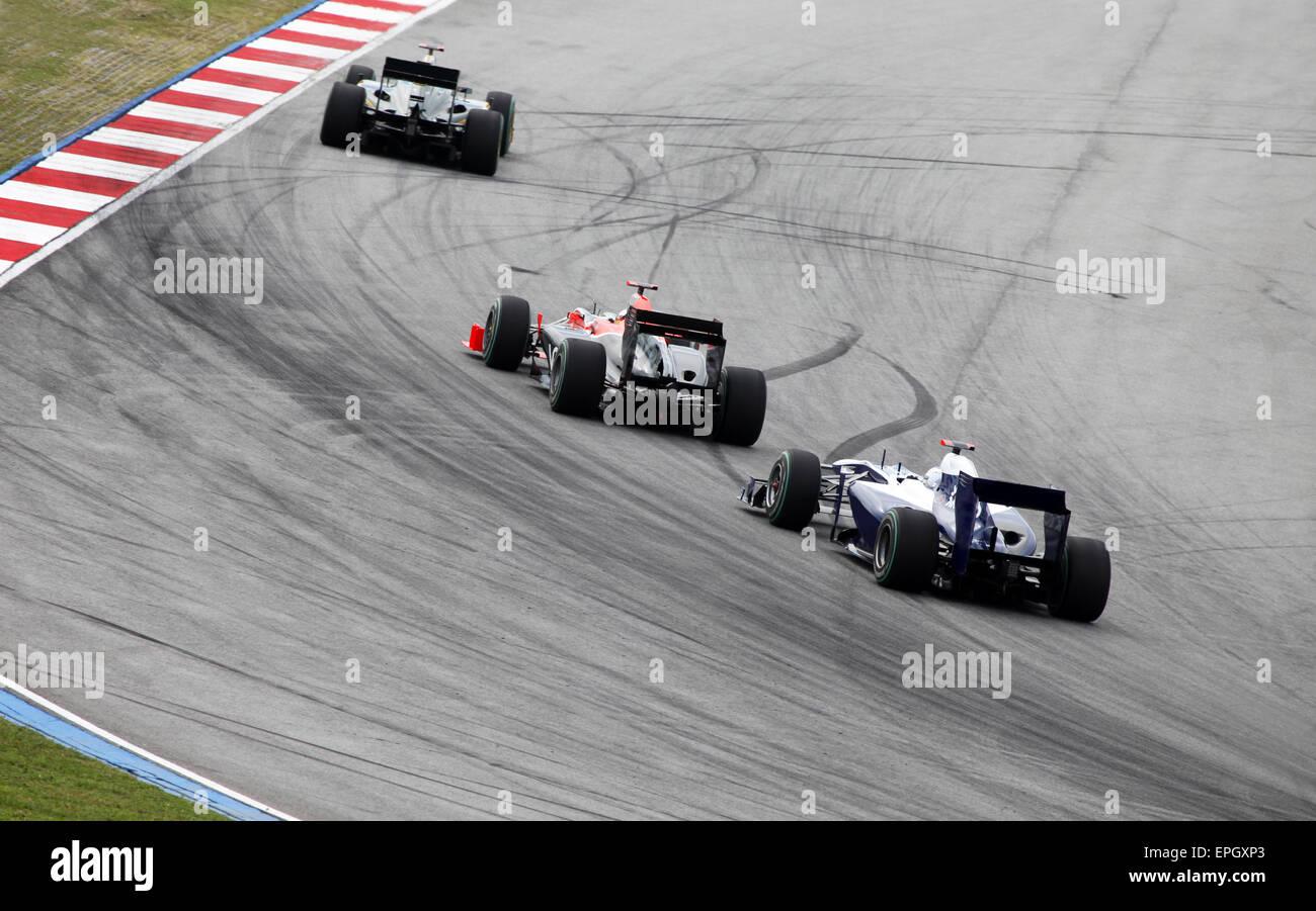 Formula 1. Sepang. April 2010 - Stock Image
