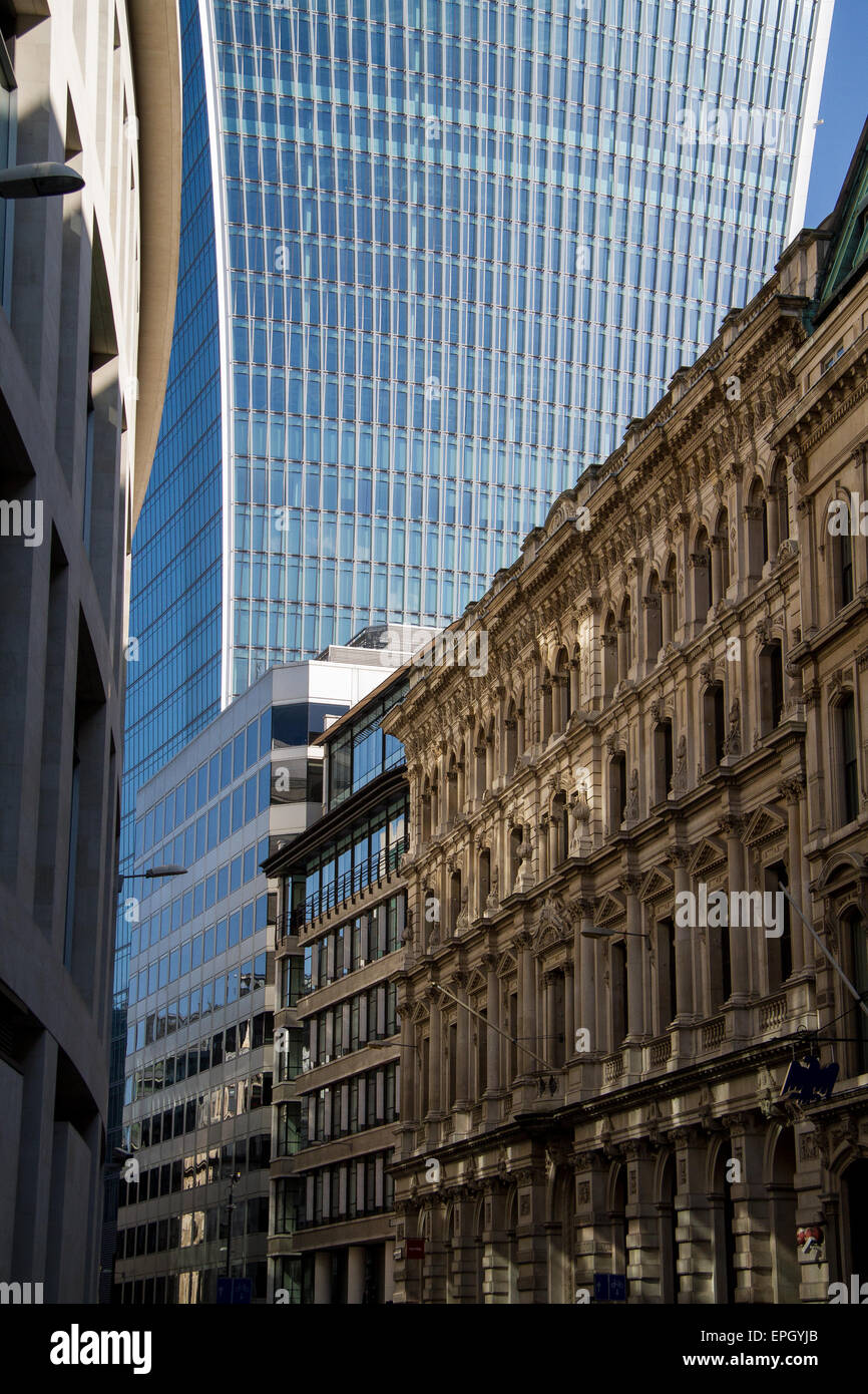 Buildings, old & new, in the City of London - Stock Image