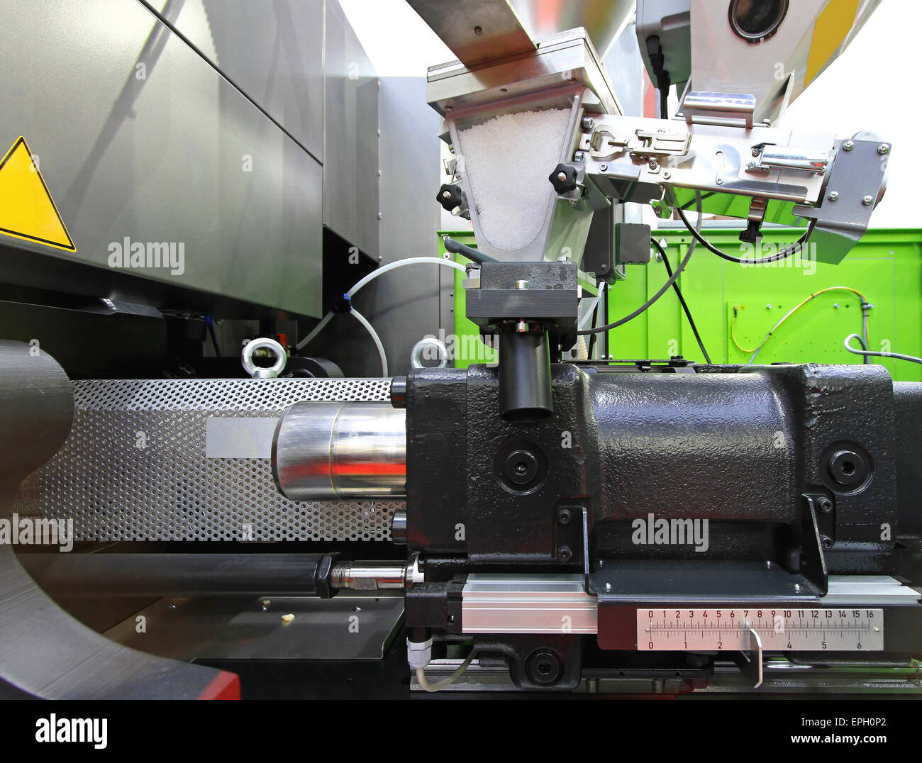 Injection moulding - Stock Image