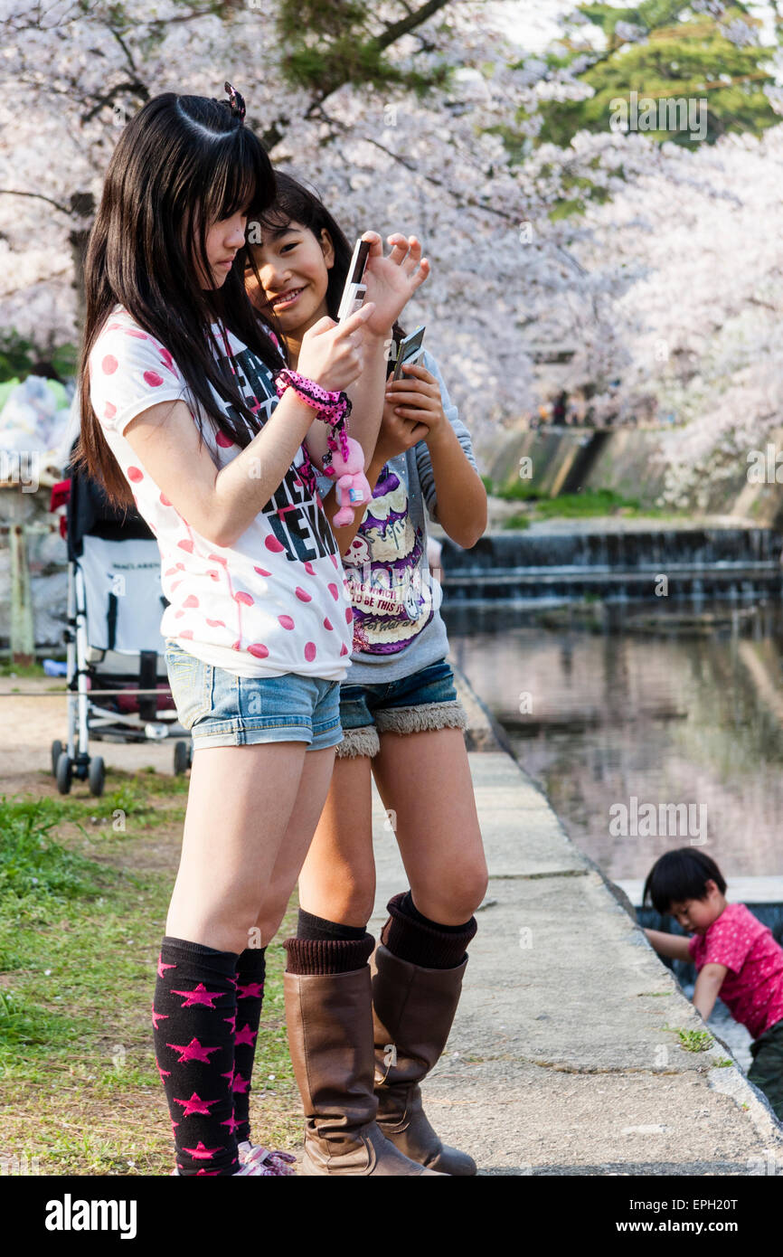 Young japanese teens