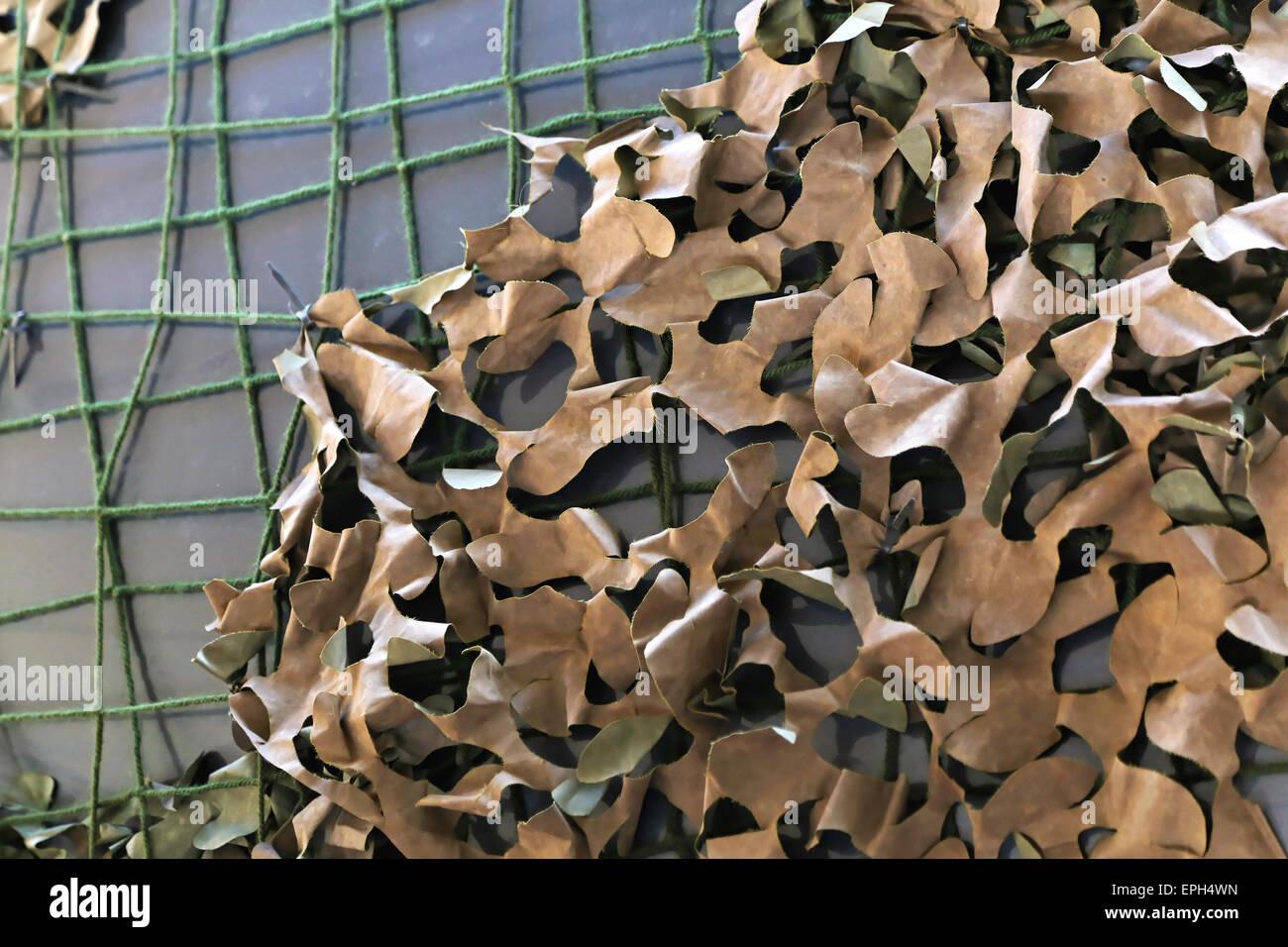 Camouflage netting - Stock Image