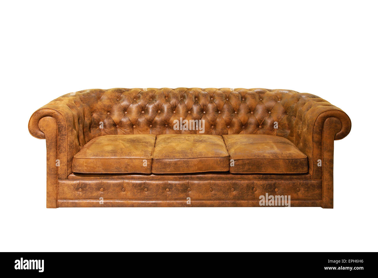 Brown Chesterfield Sofa Stock Photos & Brown Chesterfield Sofa Stock ...