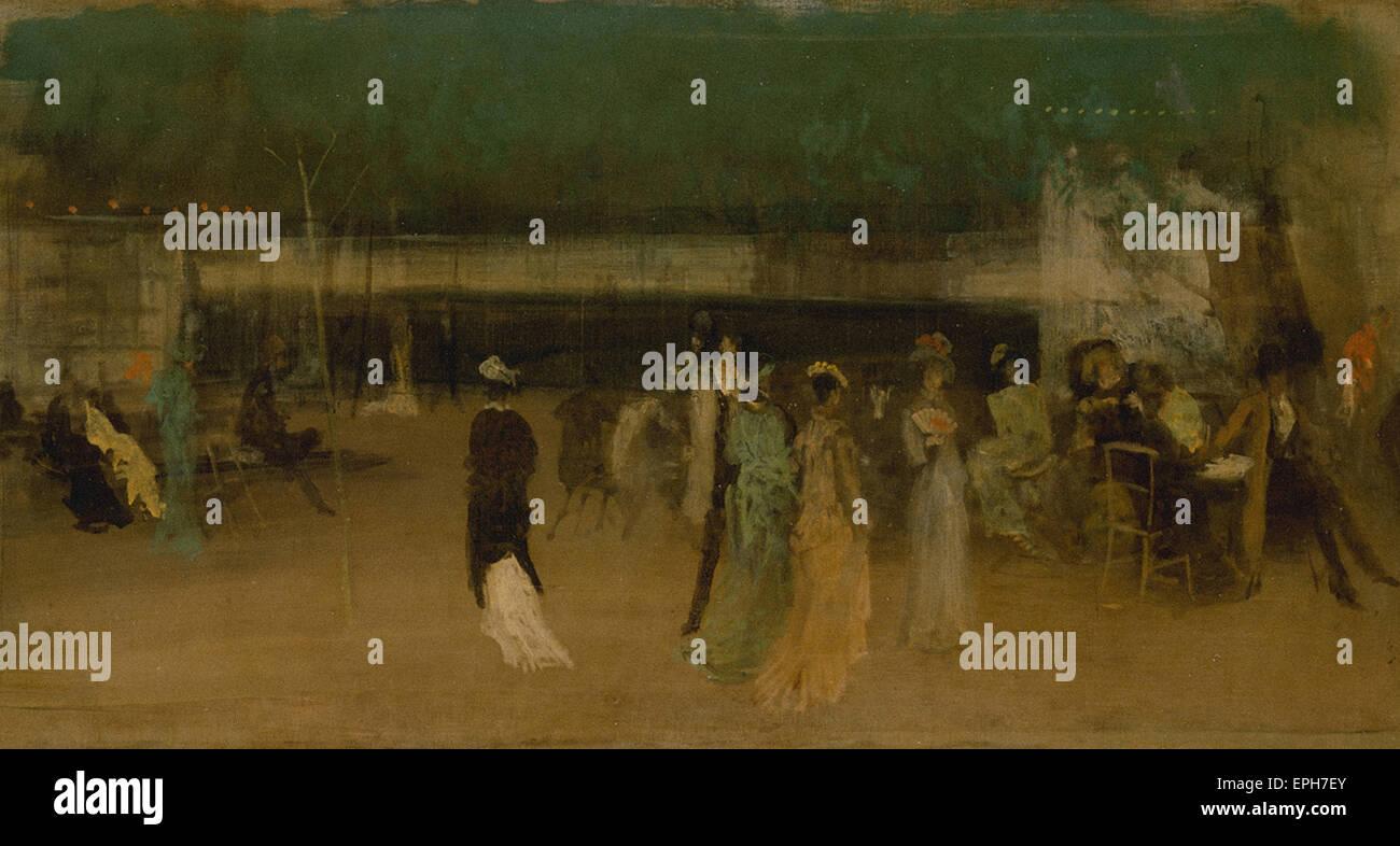 James Abbott McNeill Whistler  Cremorne Gardens, No. 2 - Stock Image