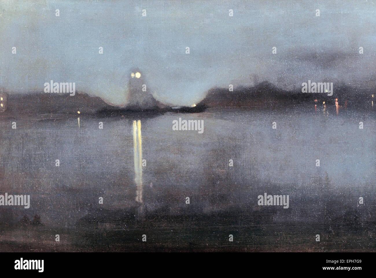 James Abbott McNeill Whistler  Nocturne - Stock Image