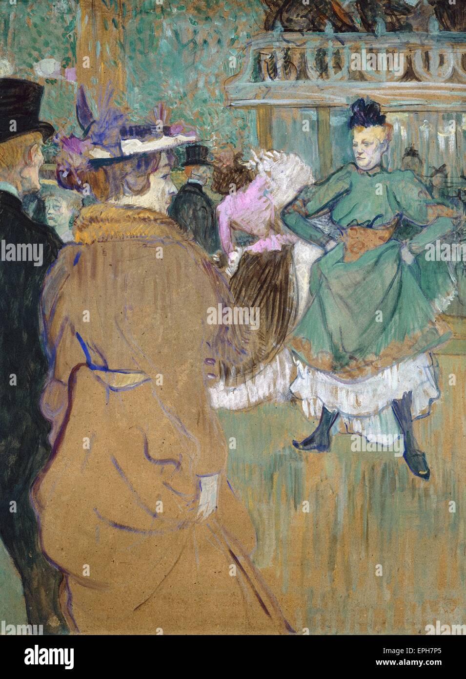 Henri Marie Raymond de Toulouse-Lautrec  Quadrille at the Moulin Rouge - Stock Image