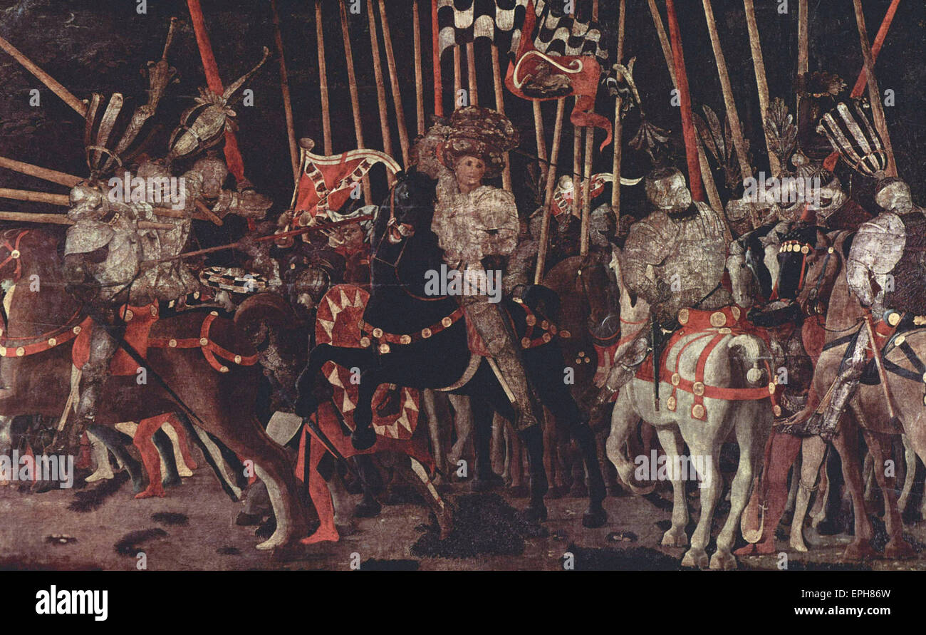 Paolo Uccello  Battle of San Romano 3 - Stock Image