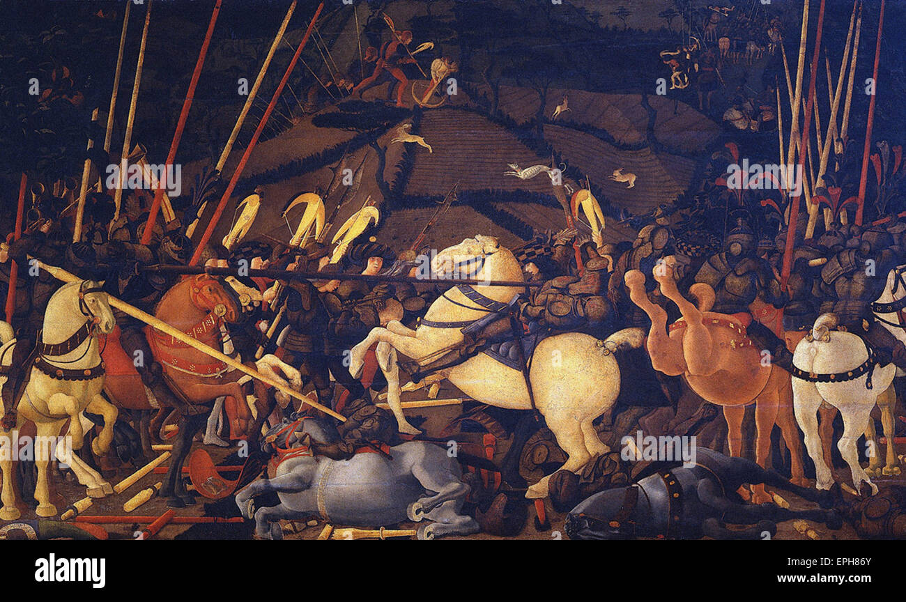 Paolo Uccello  Battle of San Romano 2 - Stock Image