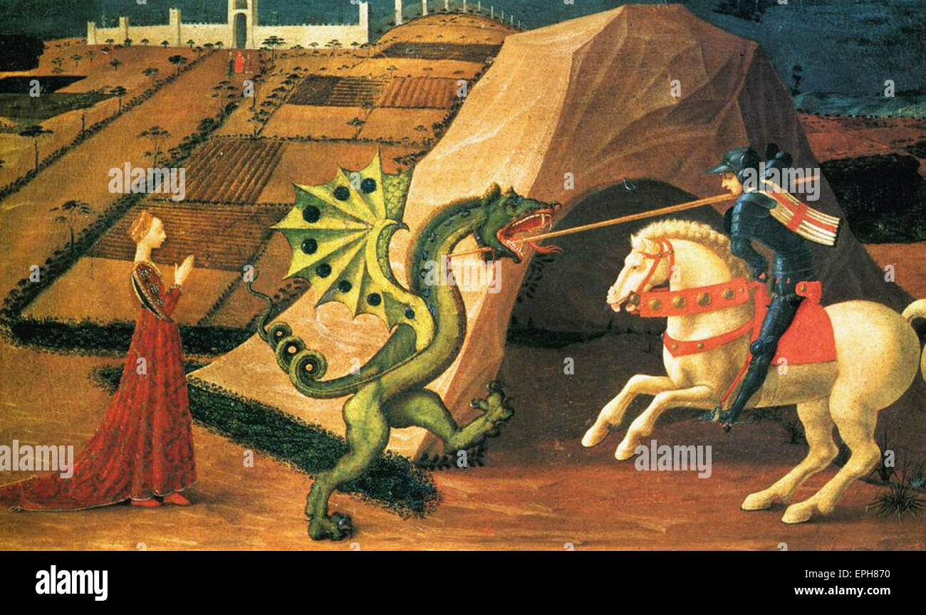 Paolo Uccello  St. George and the Dragon 2 Stock Photo