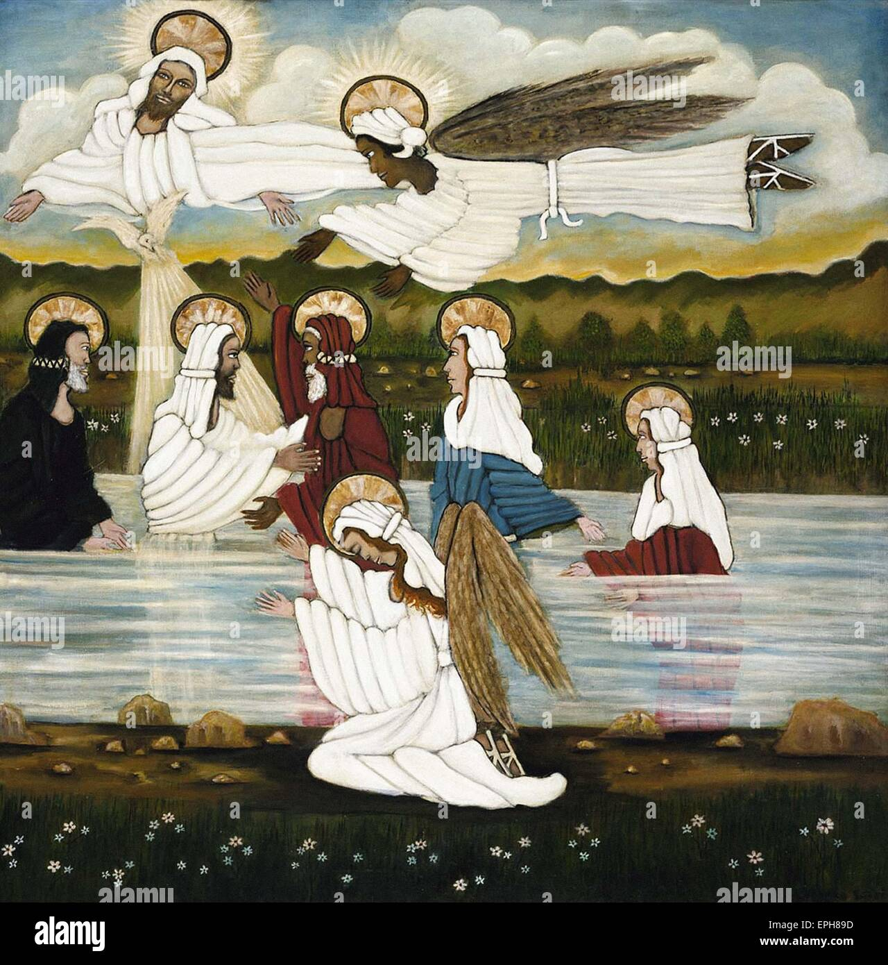 Lorenzo Scott  Baptism of Jesus - Stock Image