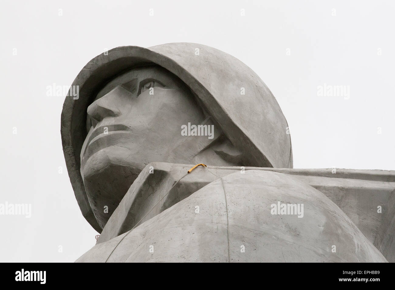 Alyosha, a monument to the defenders of the Soviet Arctic during the Great Patriotic War in Murmansk, Russia. - Stock Image