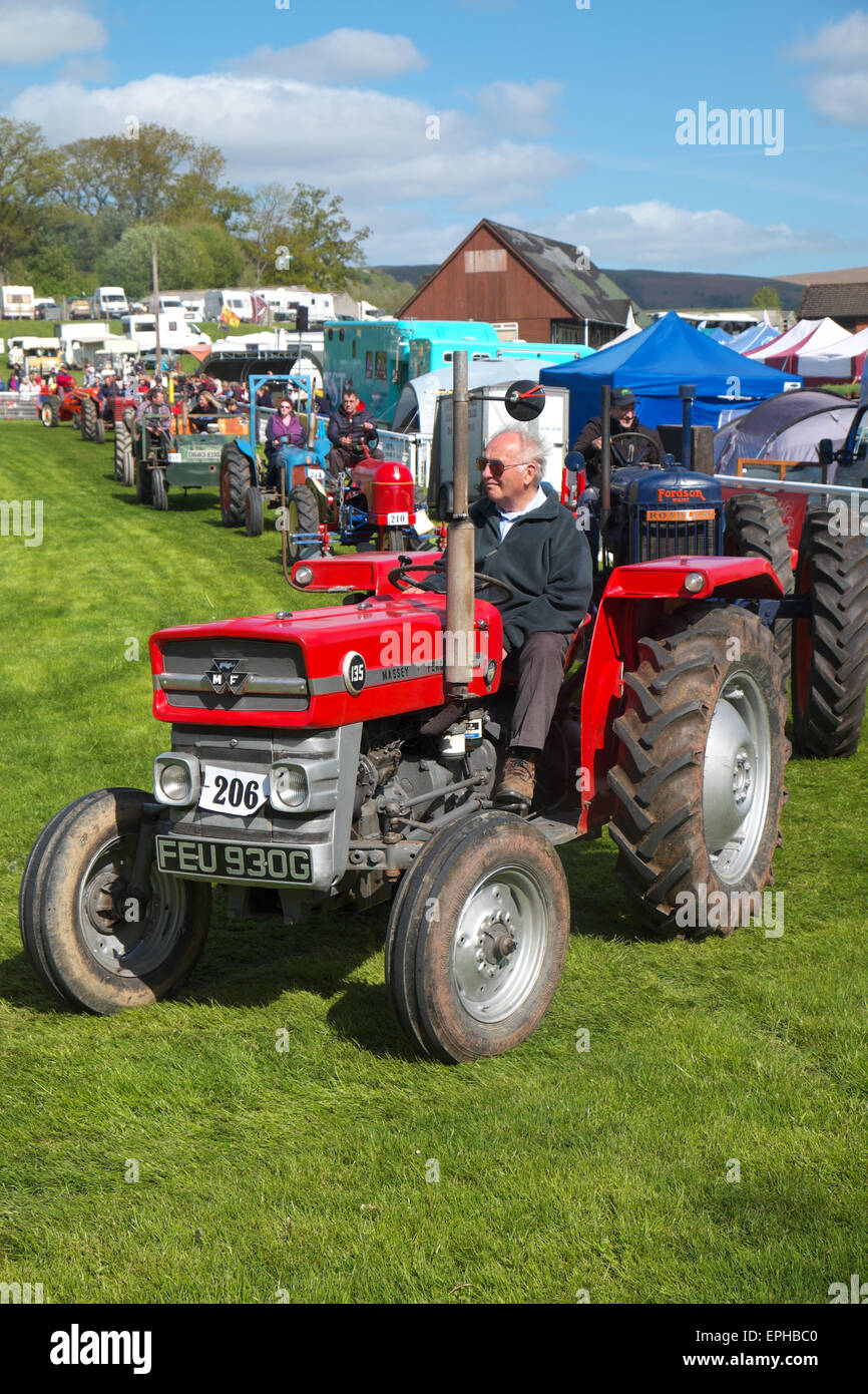 Royal Welsh Spring Festival, Builth Wells A 1969 Massey Ferguson model135  tractor in the tractor