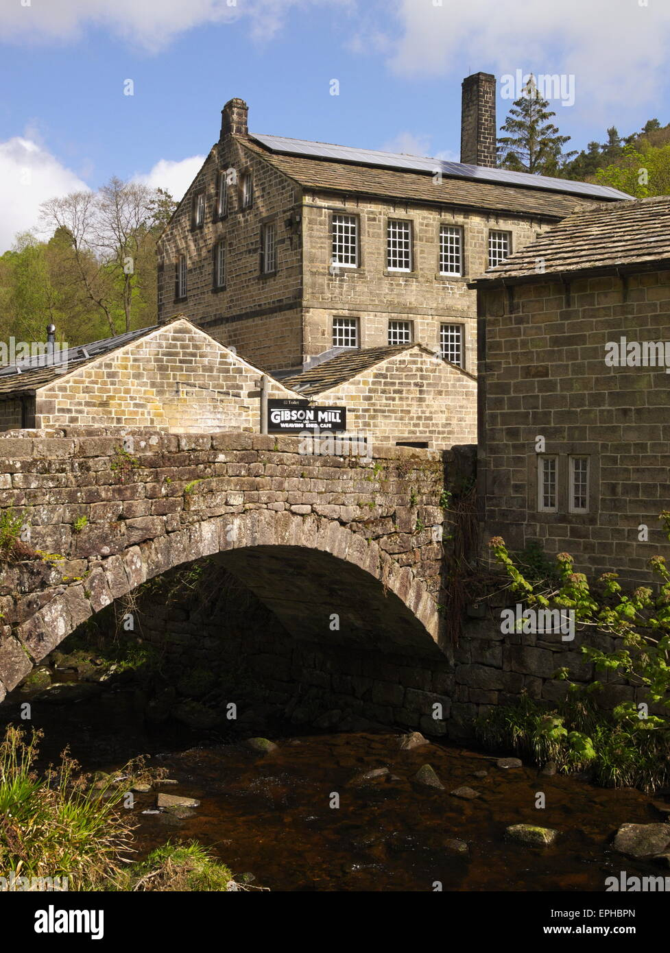 The 'Off Grid' Gibson Mill at Hardcastle Crags. - Stock Image